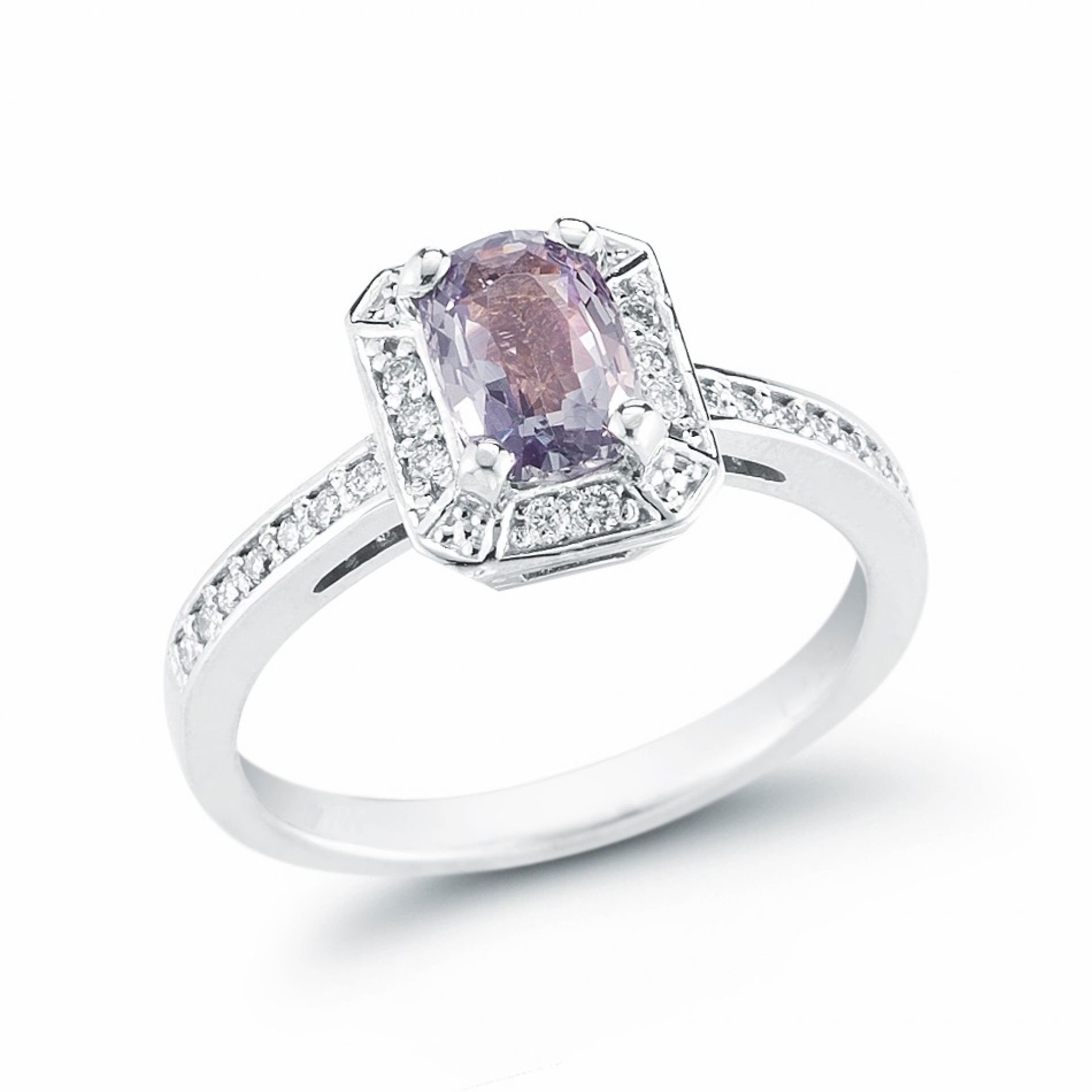 Emerald Cut Alexandrite and Diamond Ring R106570-1W