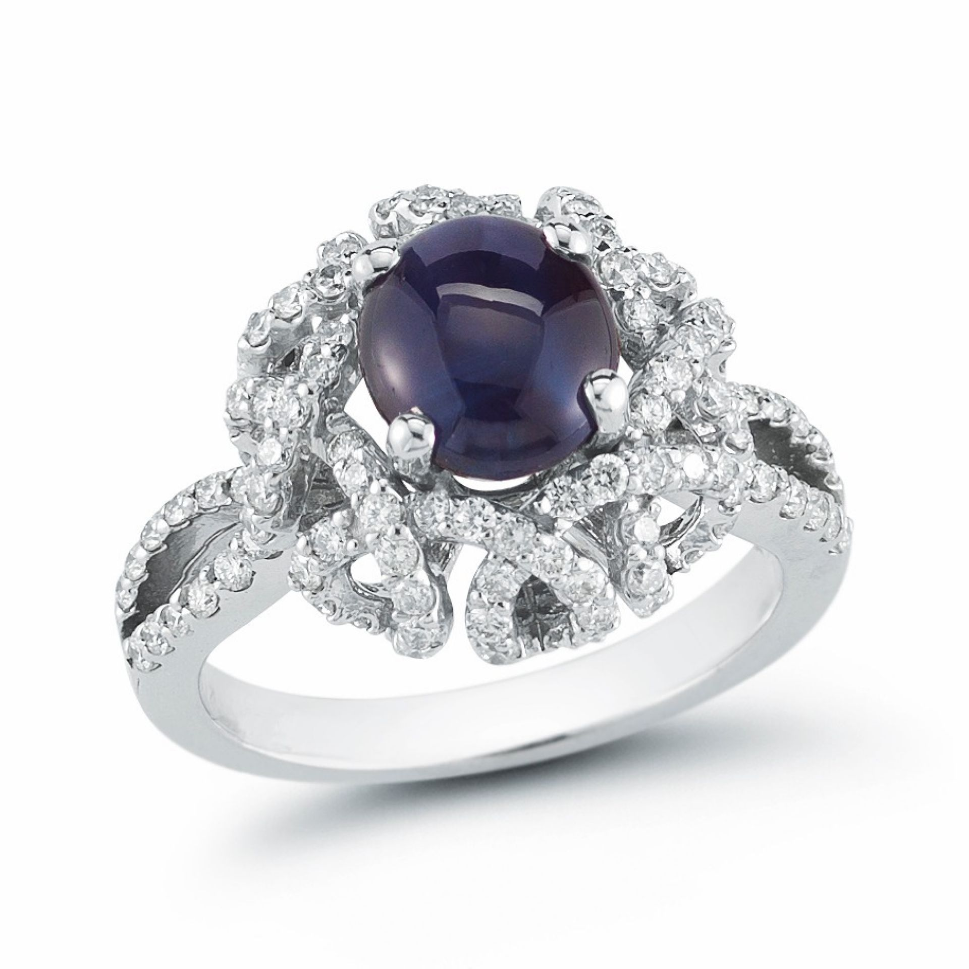 Cat's Eye Alexandrite and Diamond Ring R106564-1W