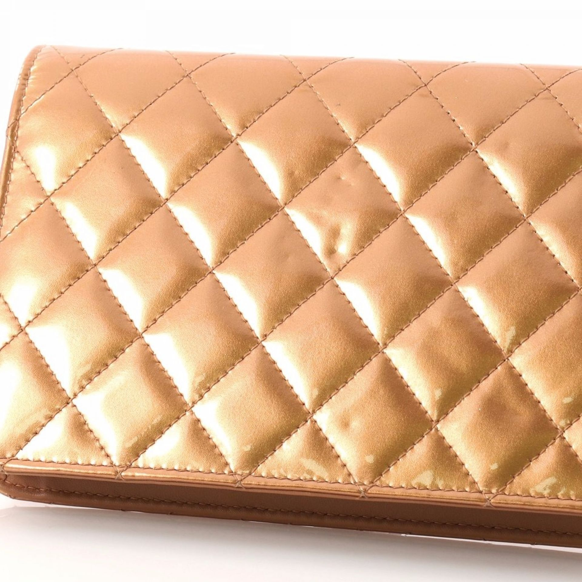 Chanel Golden Class Wallet on Chain Quilted Patent