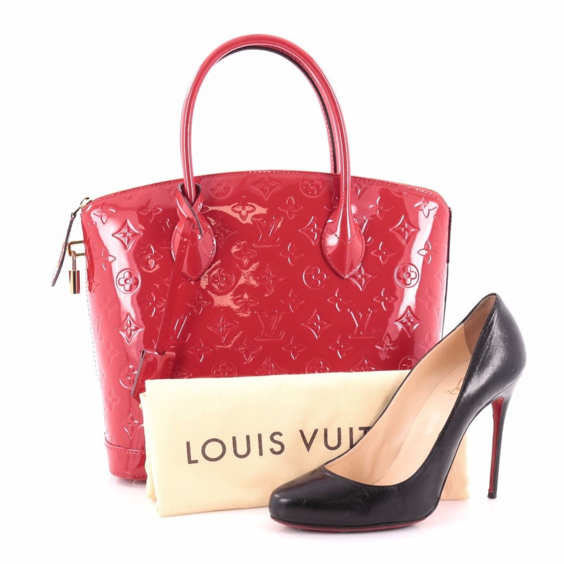Louis Vuitton Lockit Handbag Monogram Vernis PM