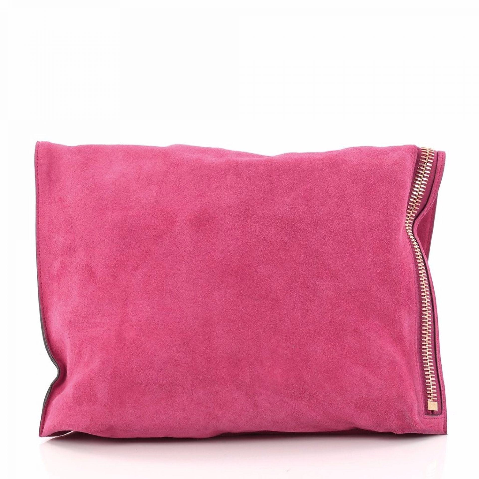 Tom Ford Alix Fold Over Bag Suede Large