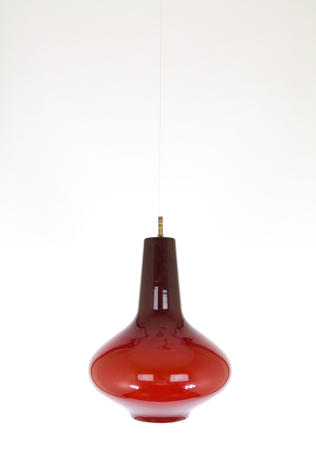 Hand-blown Murano glass pendant by Massimo Vignelli for Venini, 1950s