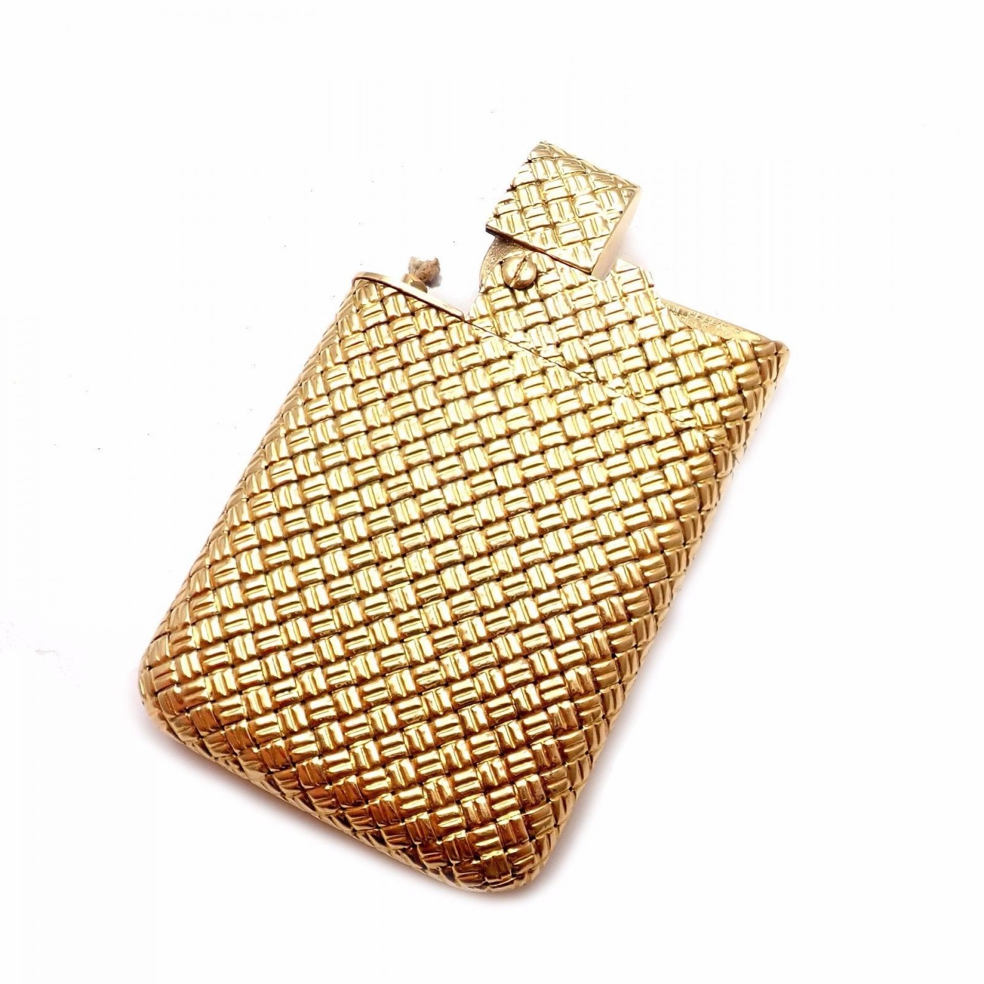 Rare! Authentic Vintage Van Cleef & Arpels VCA 7mm Thin 18k Yellow Gold Lighter