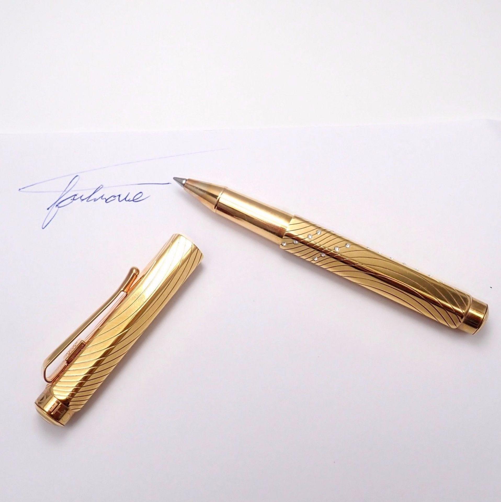 Rare! Caran d'Ache Swarovski Crystal 18k Ecridor Ballpoint Pen + Box/Booklet