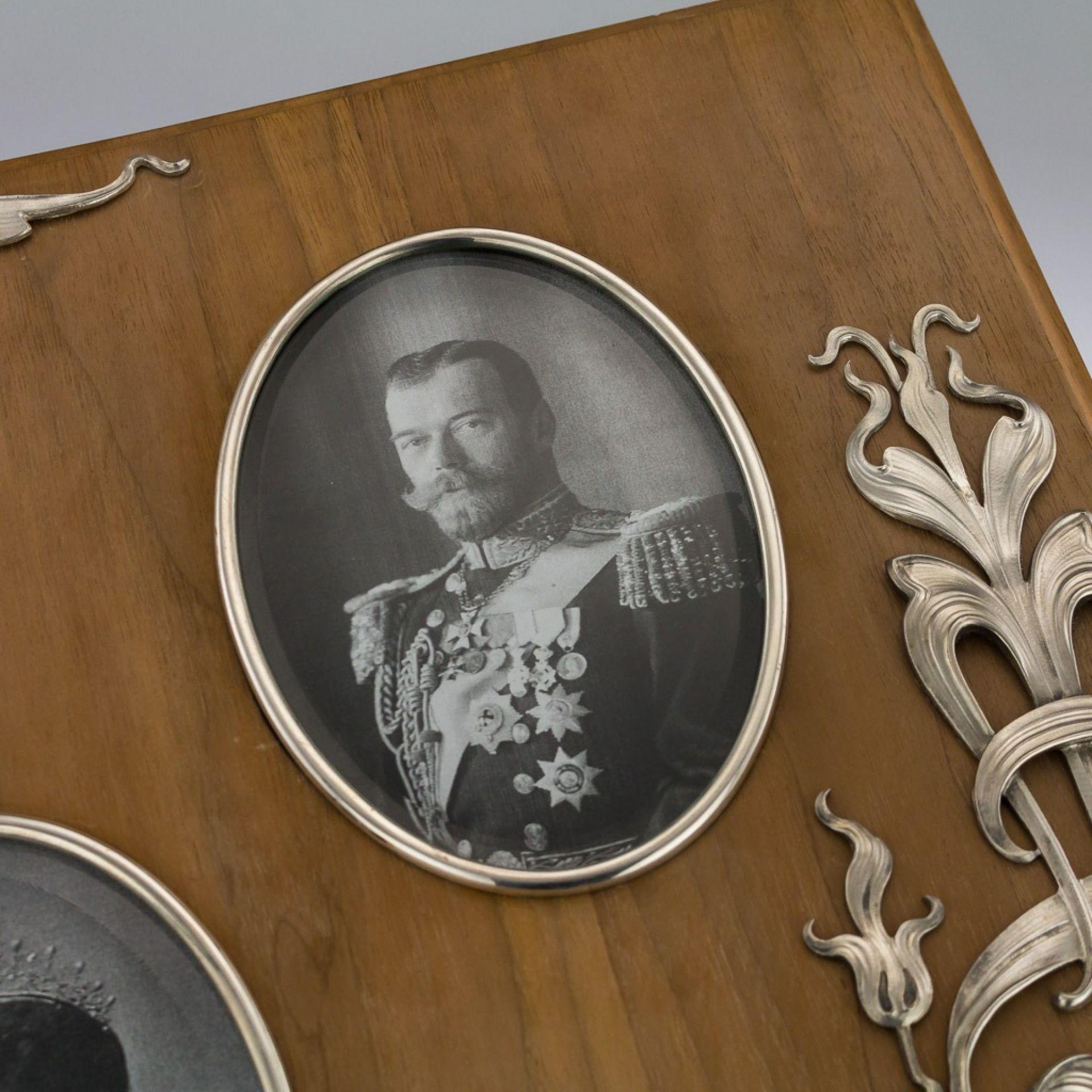 ANTIQUE 20thC RUSSIAN ART NOUVEAU SOLID SILVER LARGE PHOTO FRAME c.1910
