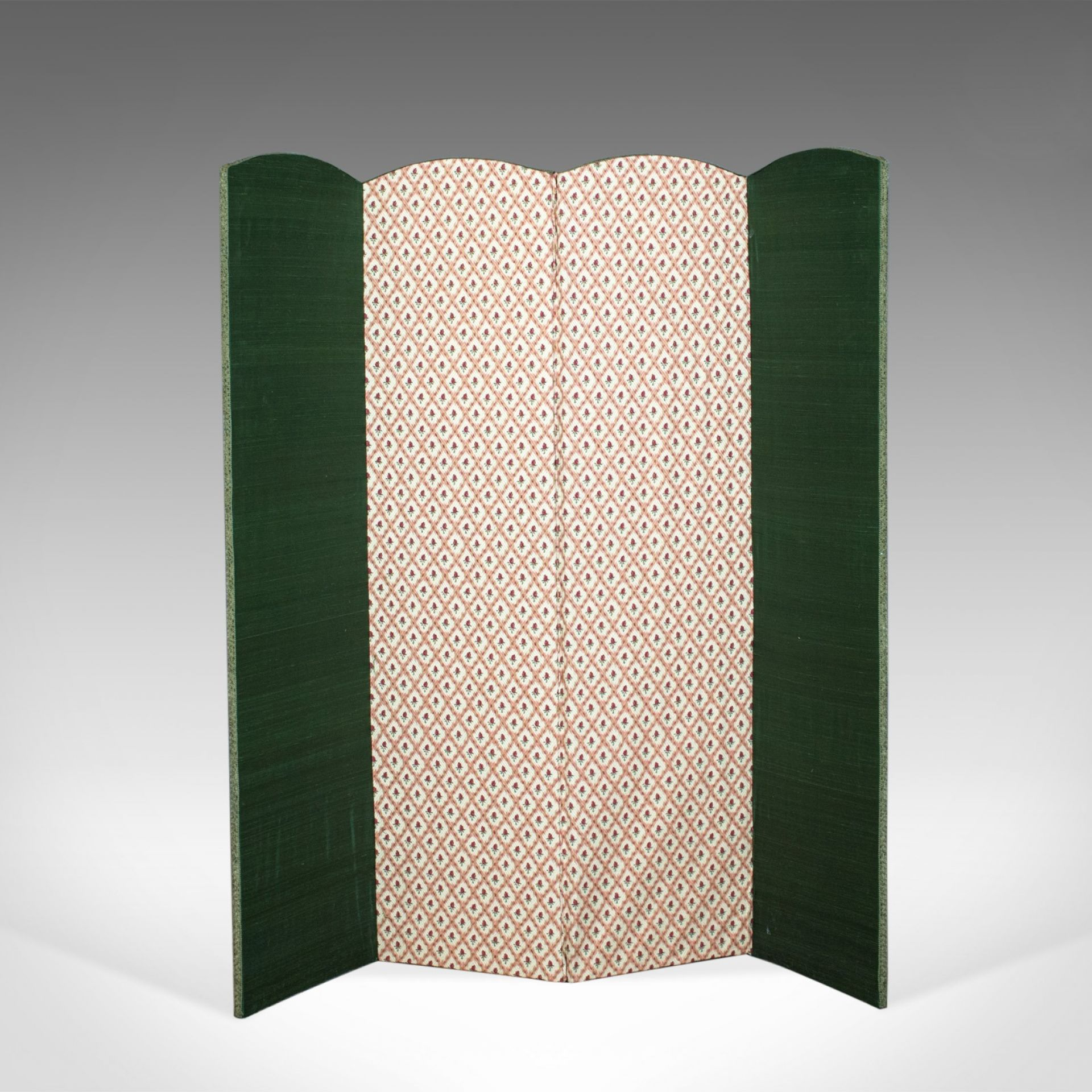 Antique Four Fold Screen, Edwardian, Panel, Room Divider, Photgrapher's Prop