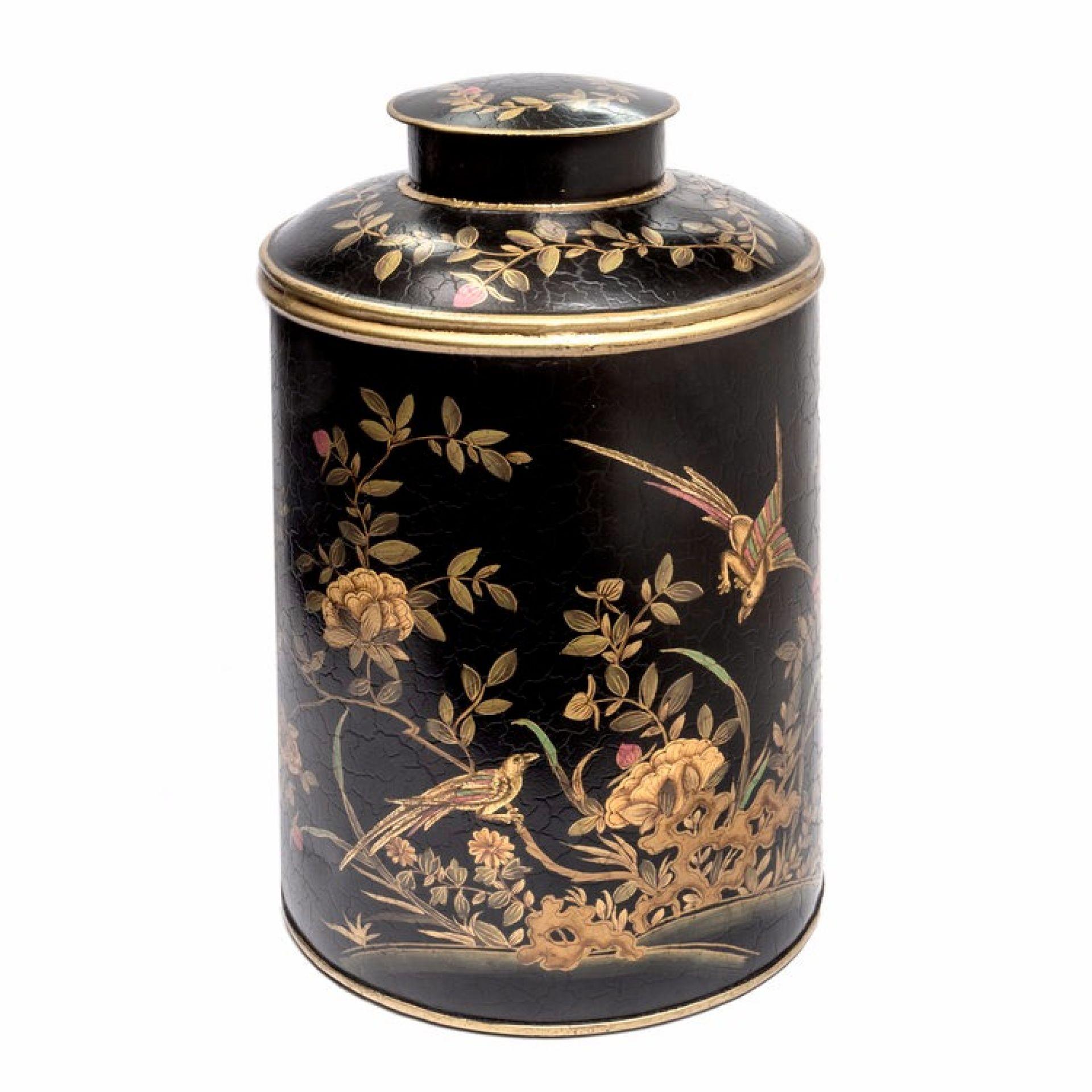 Large Chinoiserie Tea Caddy