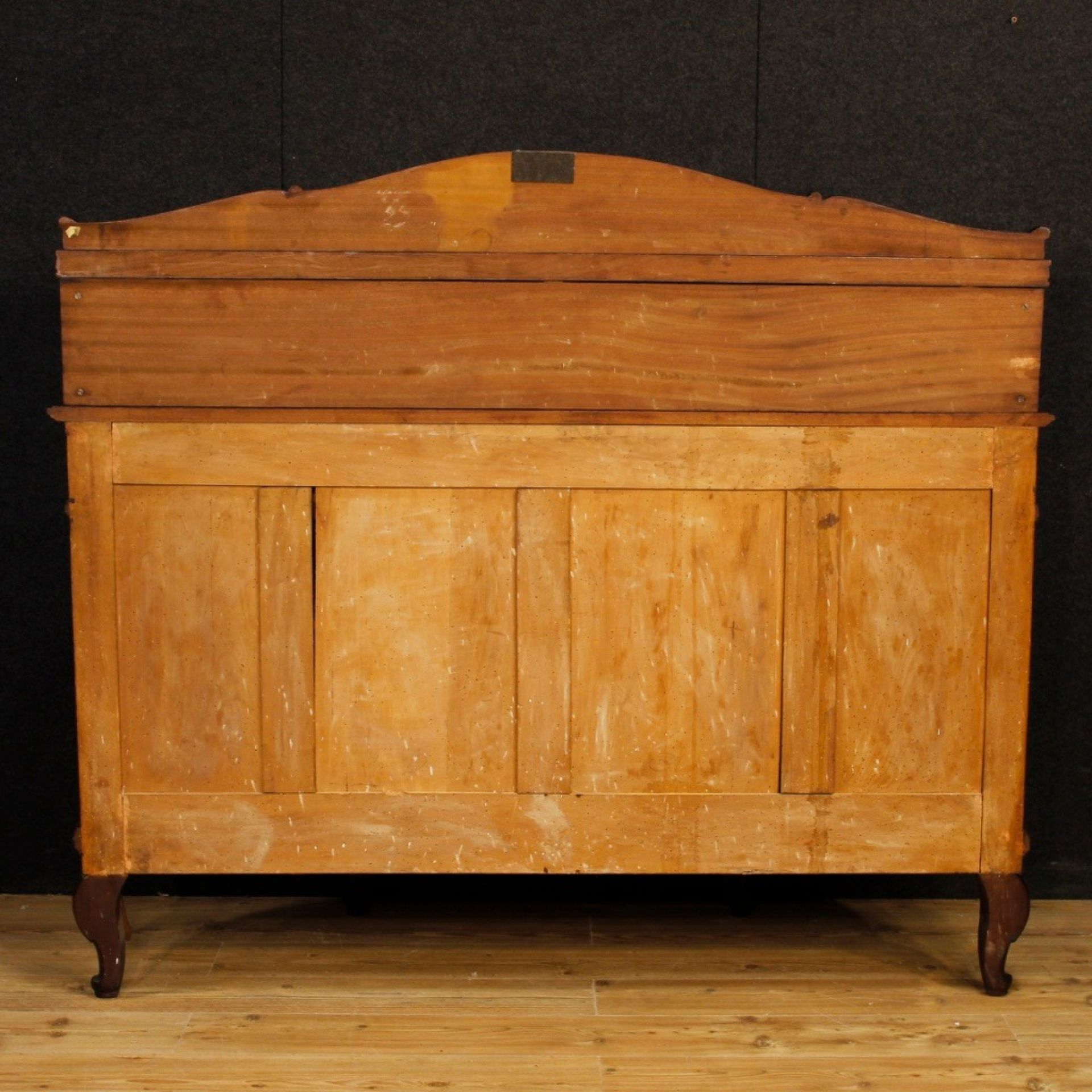 French Sideboard In Mahogany Wood With 4 Doors And 4 Drawers From 20th Century