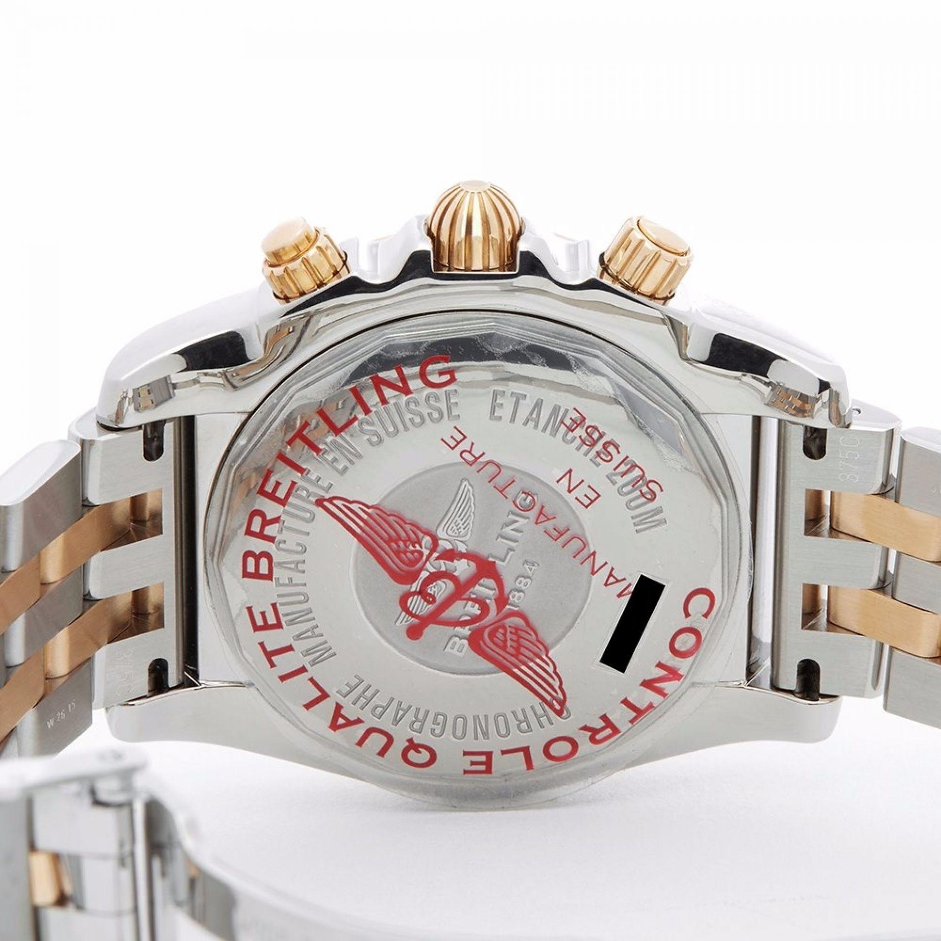 BREITLING CHRONOMAT STAINLESS STEEL & 18K ROSE GOLD MEN'S CB042012/A739