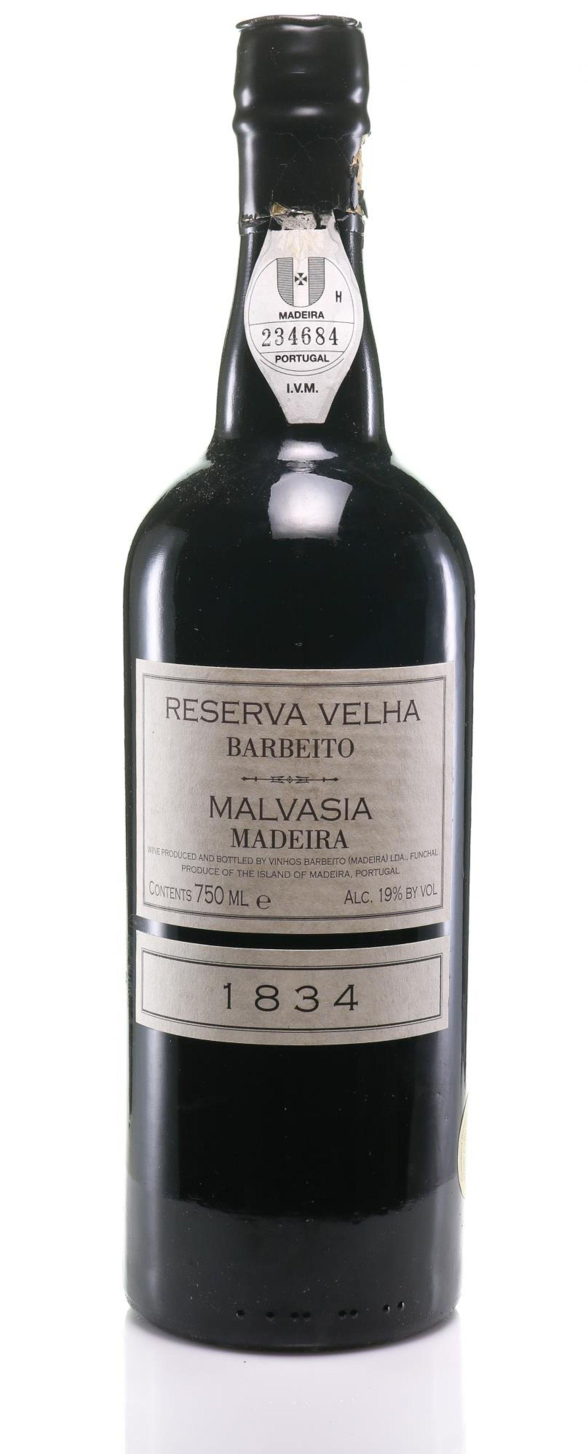Madeira 1834 Barbeito Malvasia