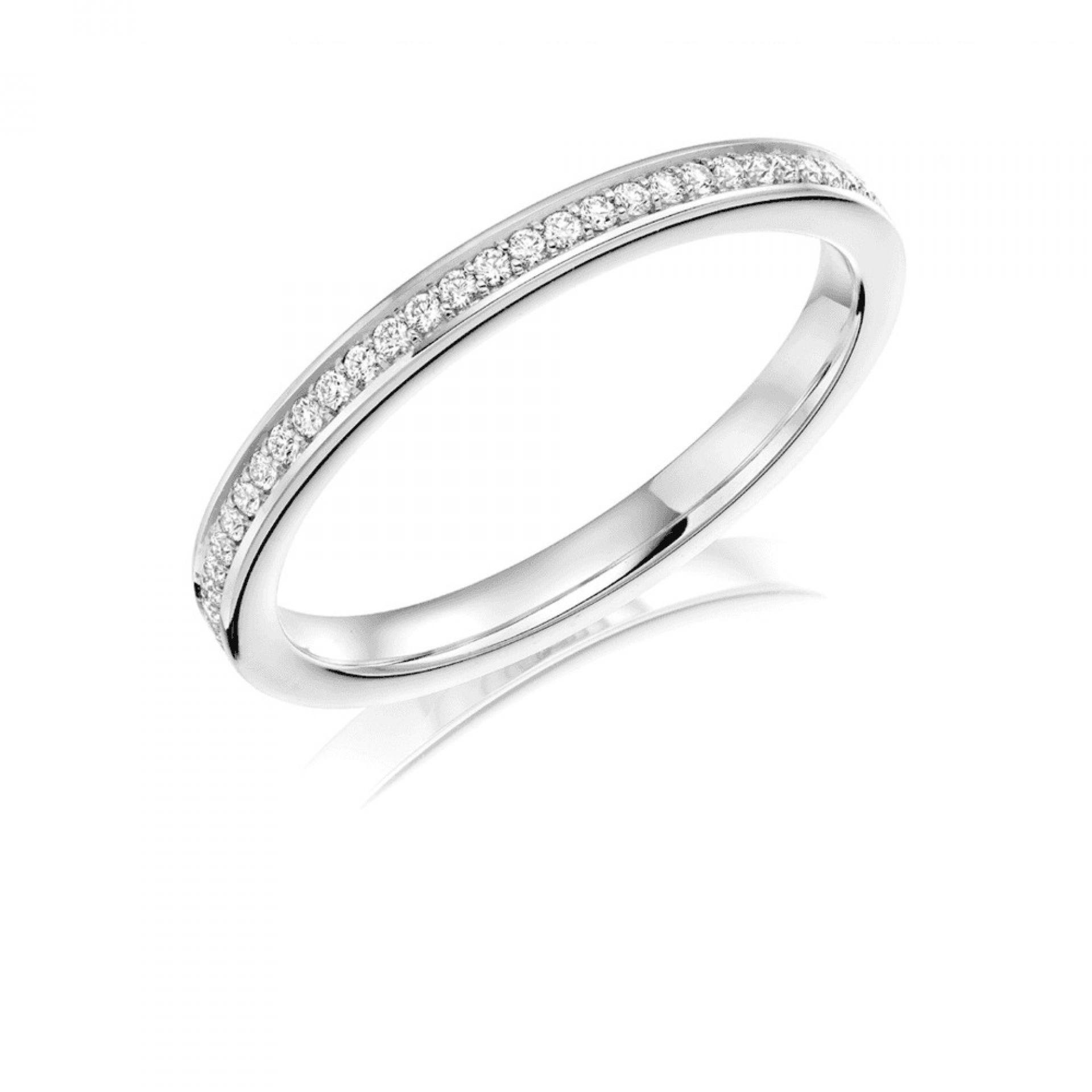 CHANNEL SET BRILLIANT CUT DIAMOND WEDDING RING