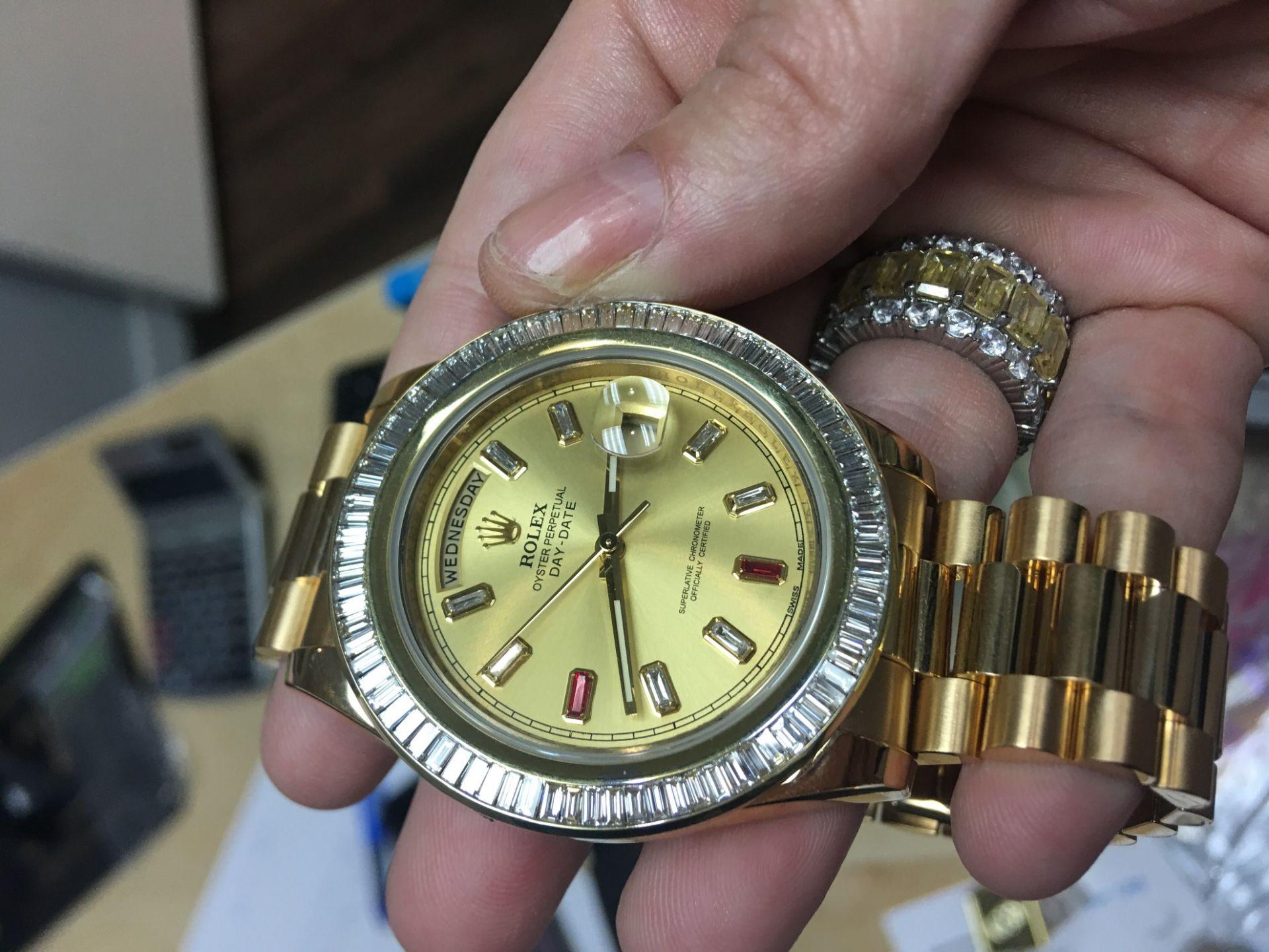 Rolex Day Date President 41mm ref 218238 YG