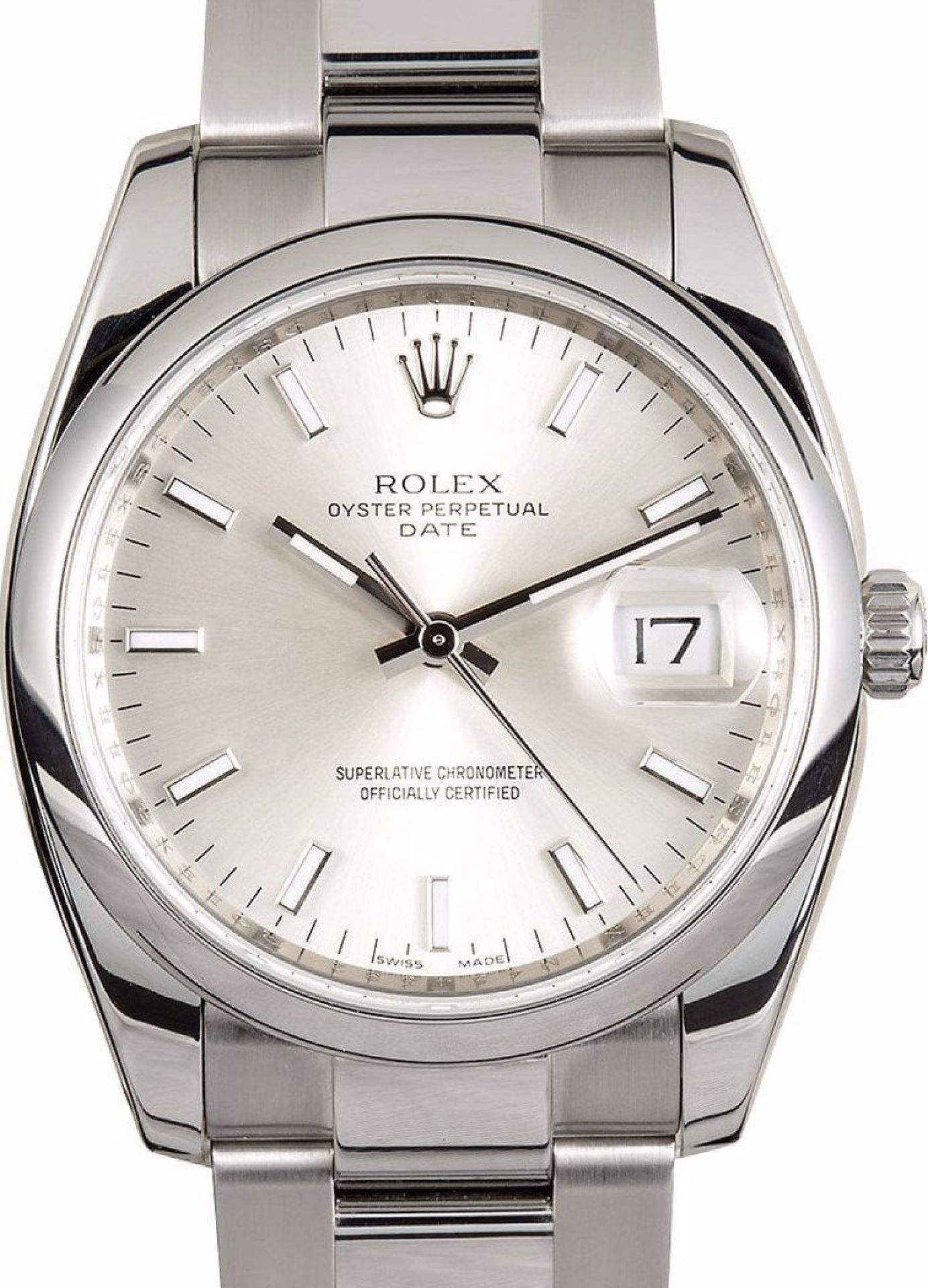 Rolex Oyster Perpetual Date Watch SILVER DIAL