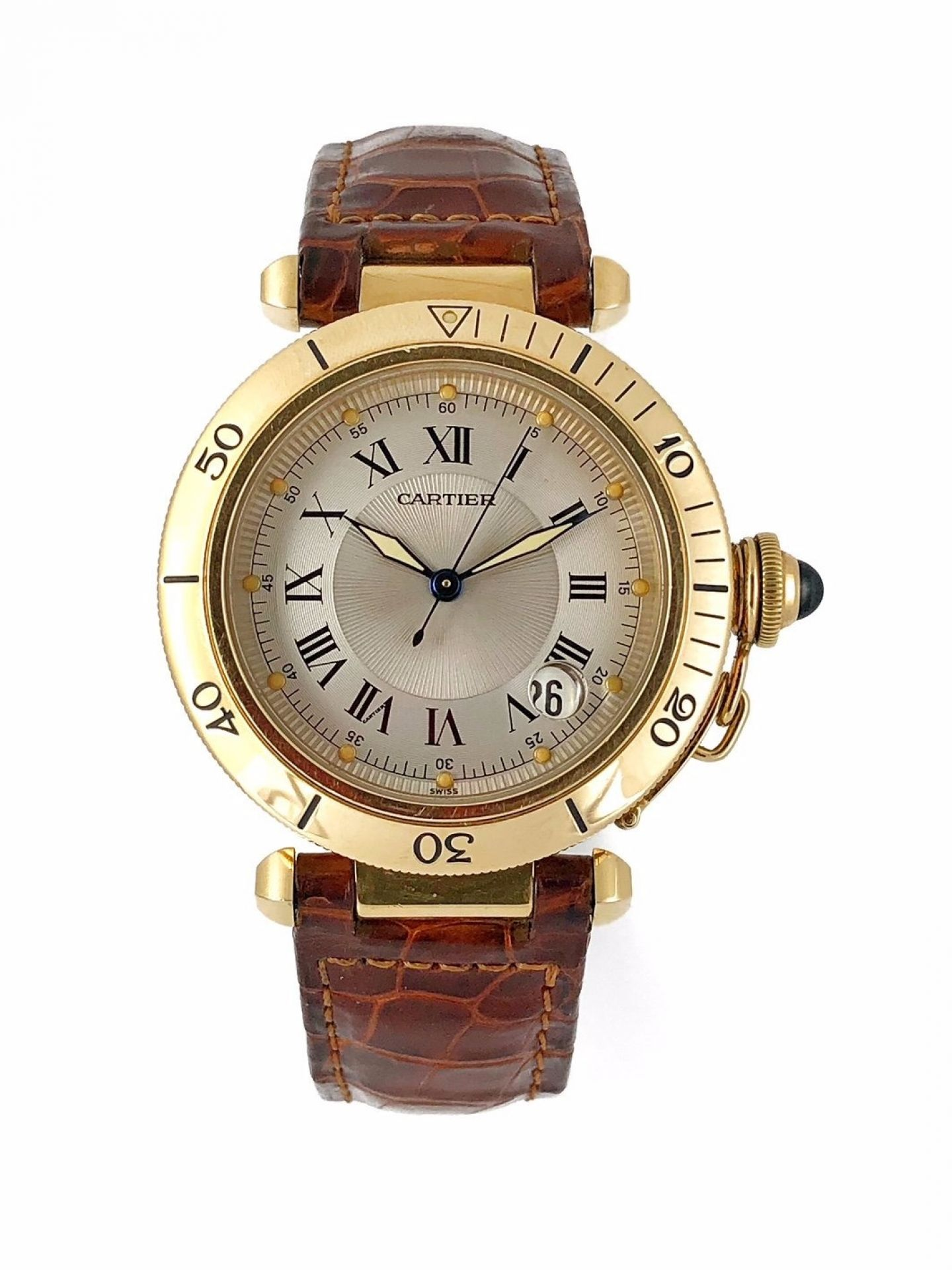 CARTIER PASHA 1027 18K GOLD