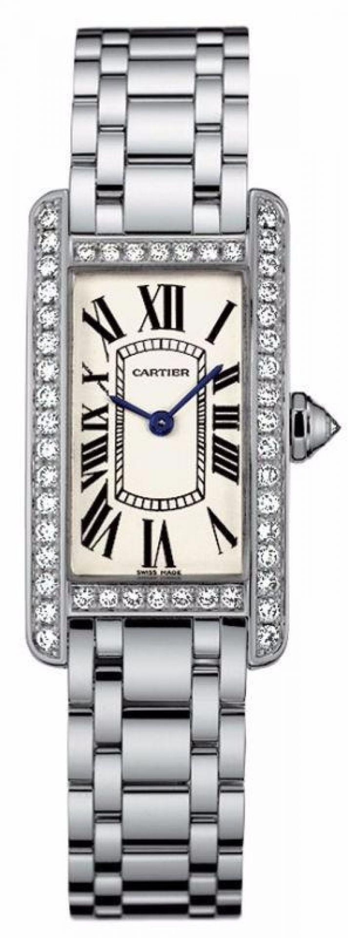 Cartier White Tank Americaine Midsize 18k Gold