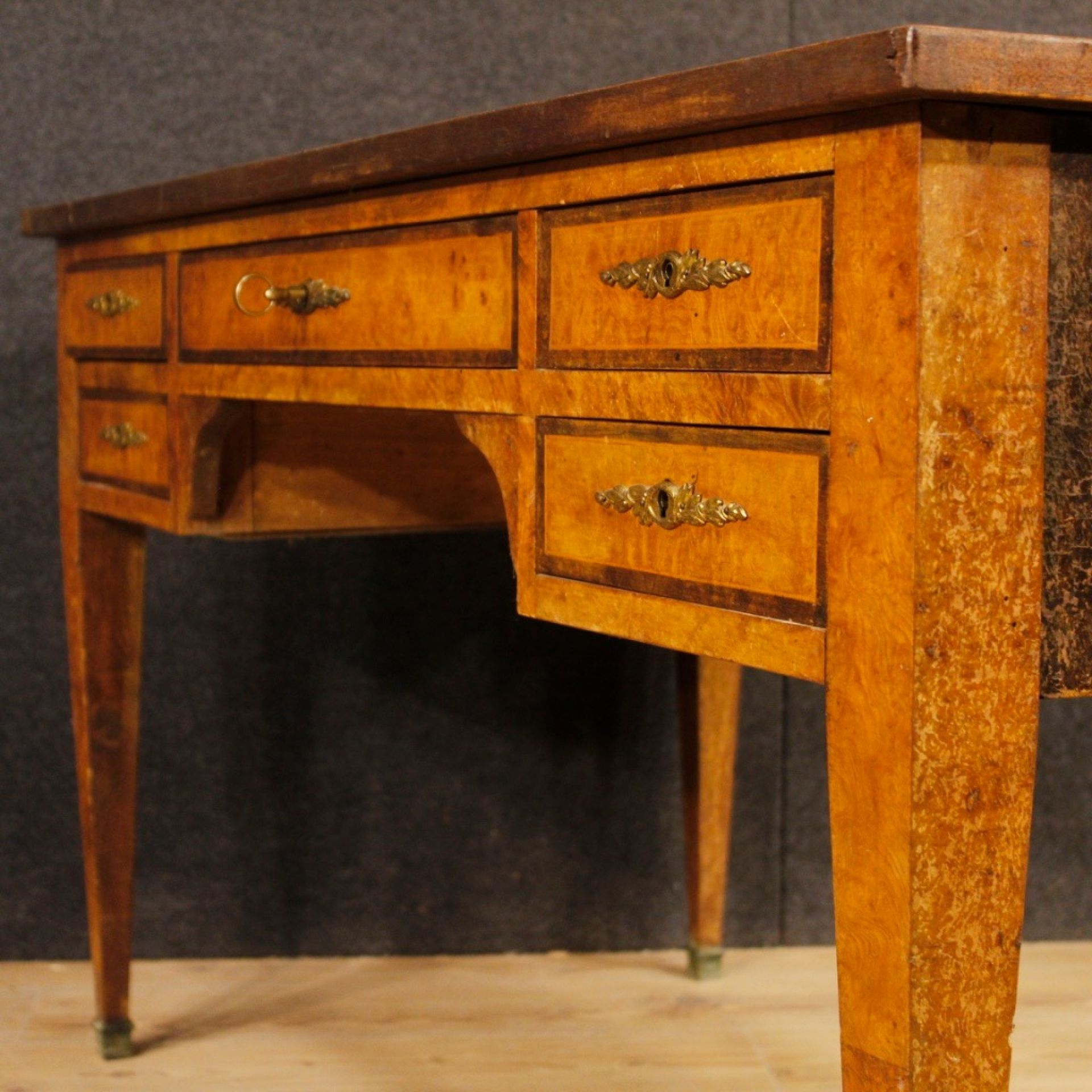 French Writing Desk In Wood In Louis XVI From 20th Century