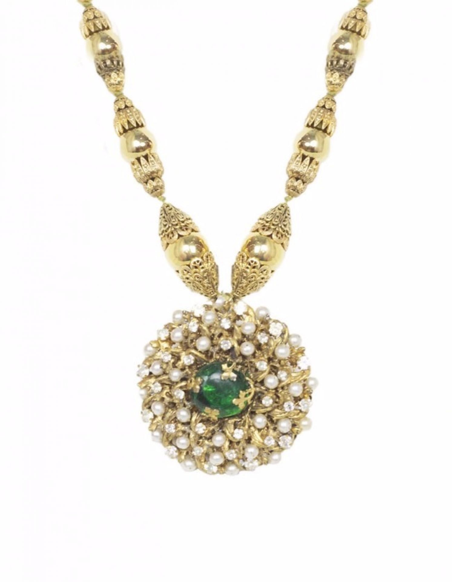 Chanel 3 Star Couture Pearl And Stone Necklace