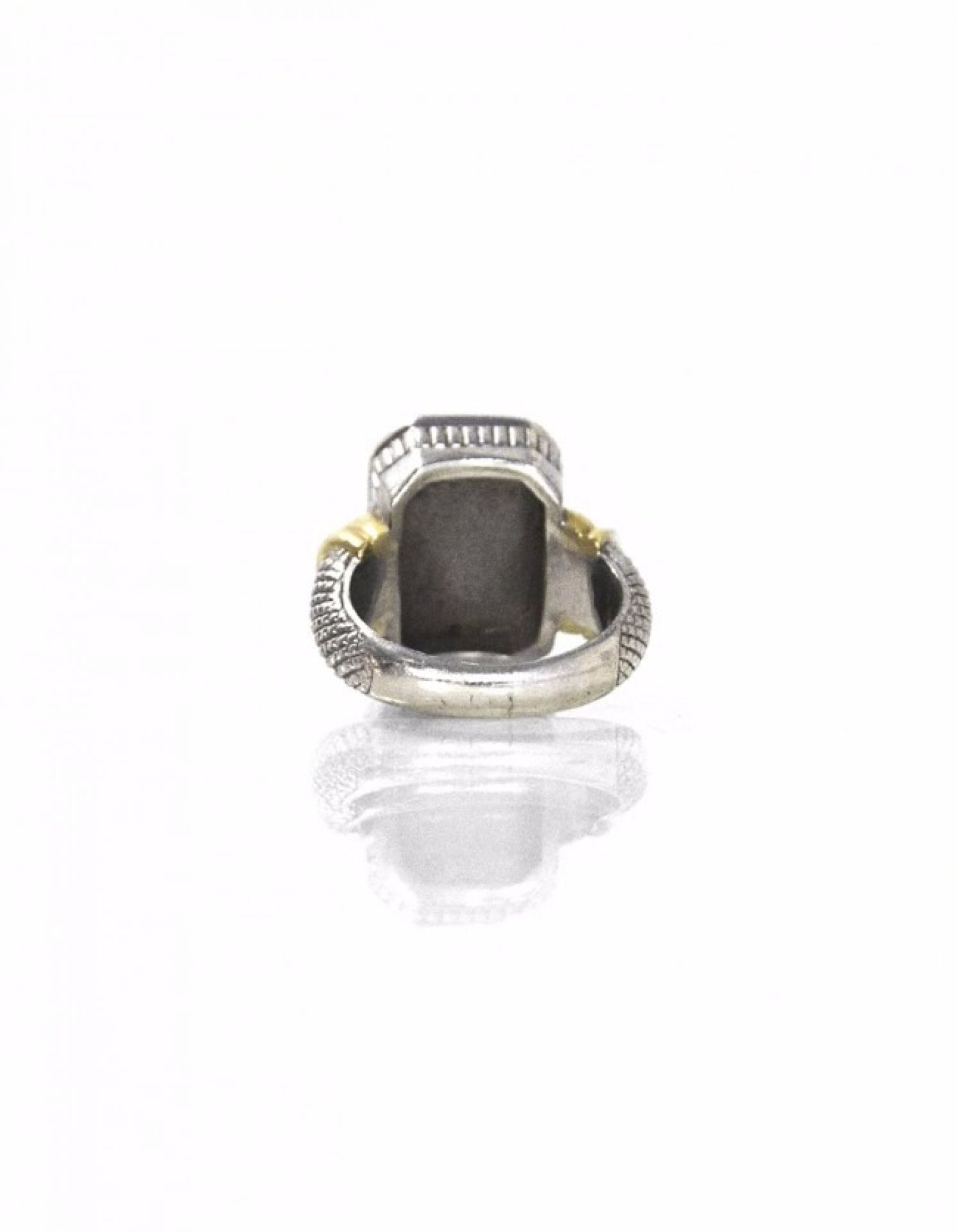 Judith Ripka Sterling & Gold Intaglio Ring Sz 7