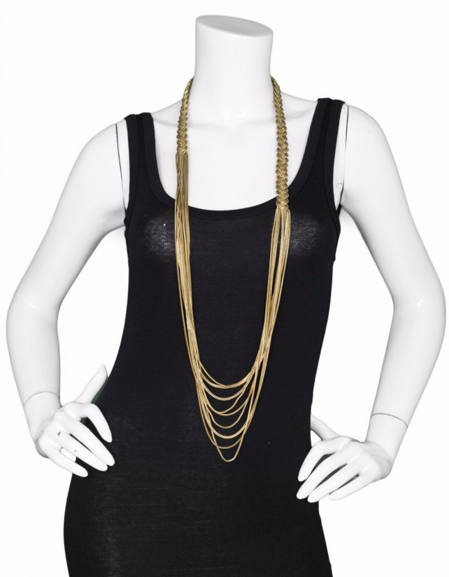 Chanel Goldtone Nine-Strand Braided Necklace
