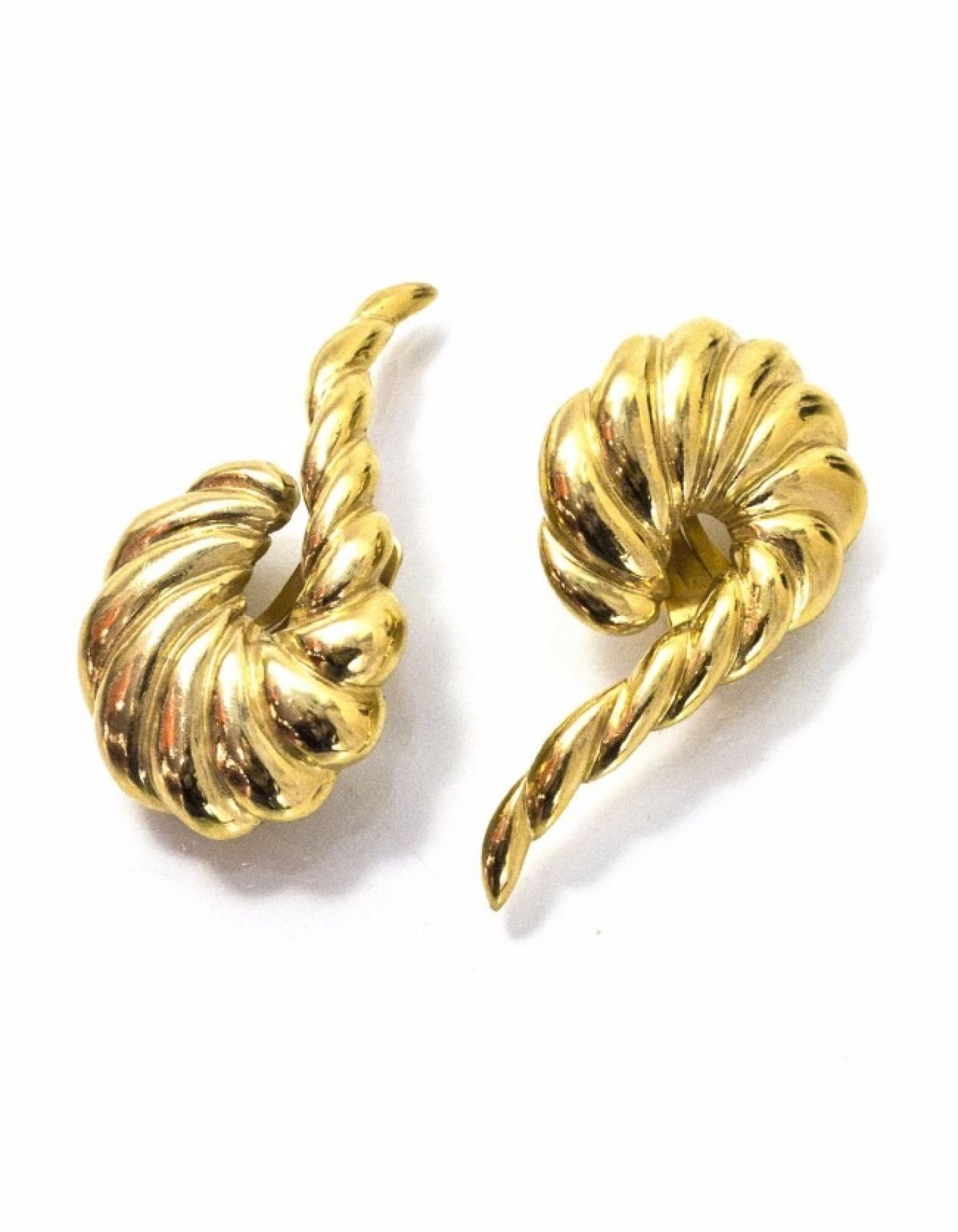 Valentino Goldtone Twisted Clip-On Earrings
