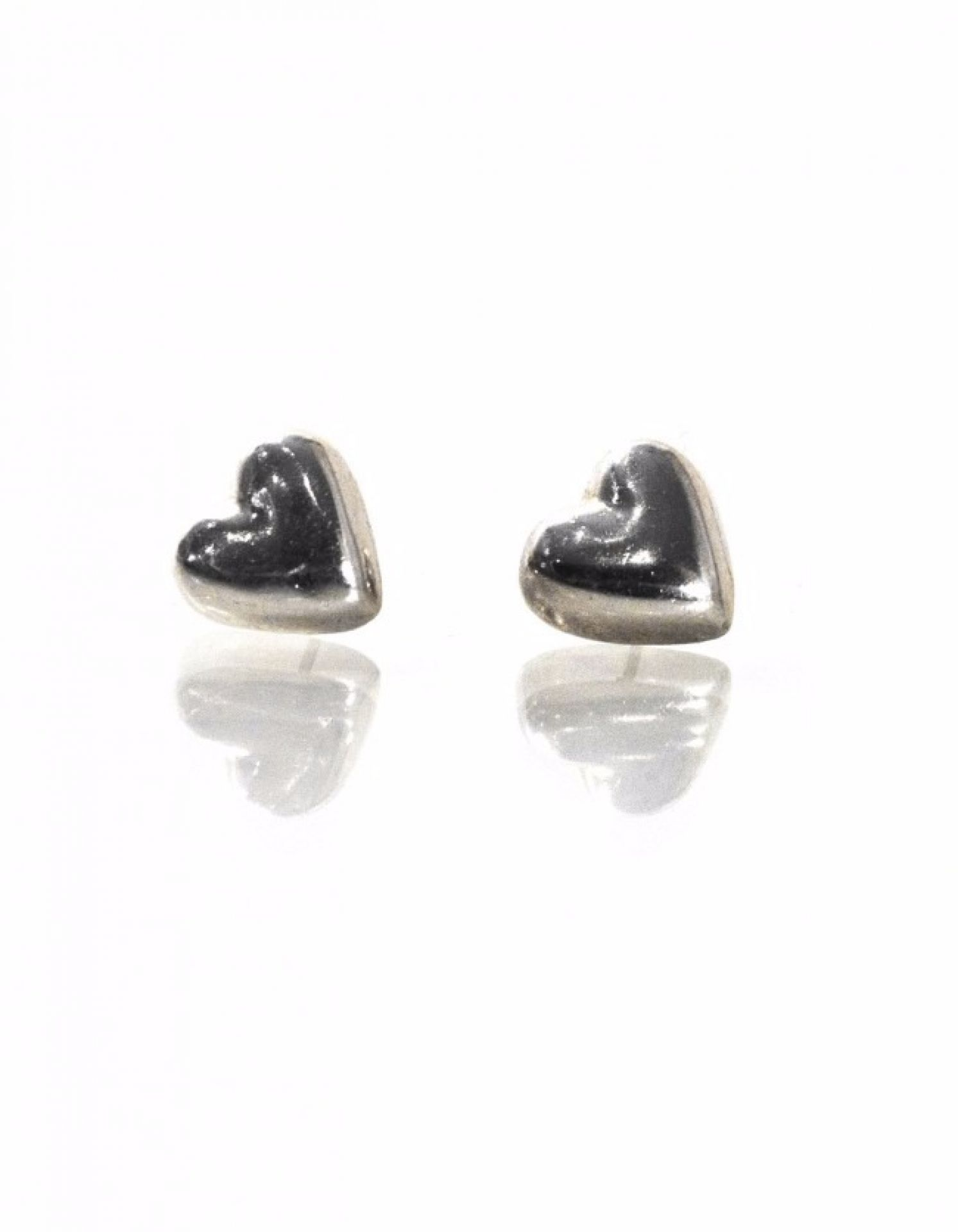 Tiffany & Co. Sterling Heart Stud Earrings