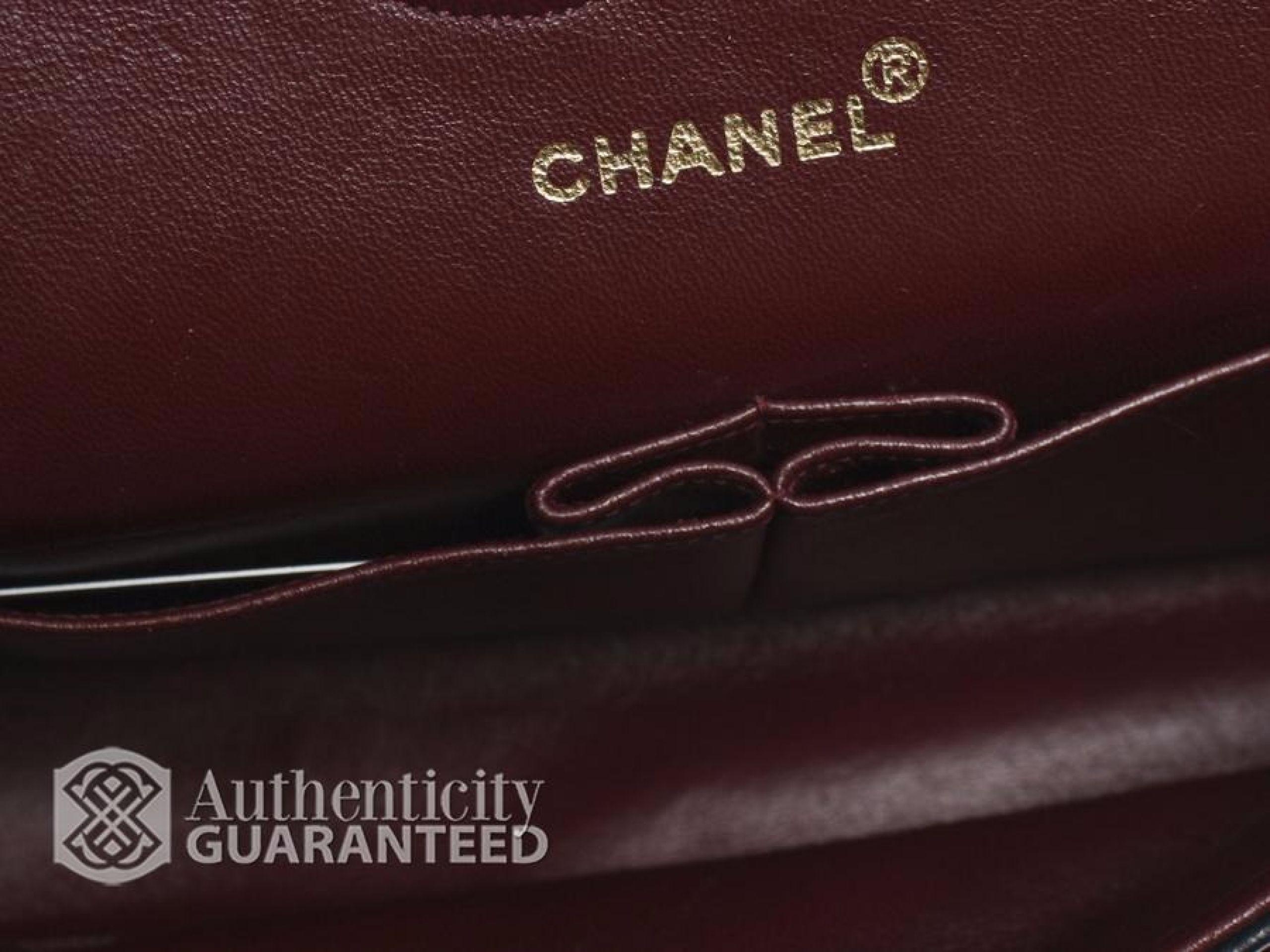 Chanel Black Lambskin Chevron Double Flap Bag GHW