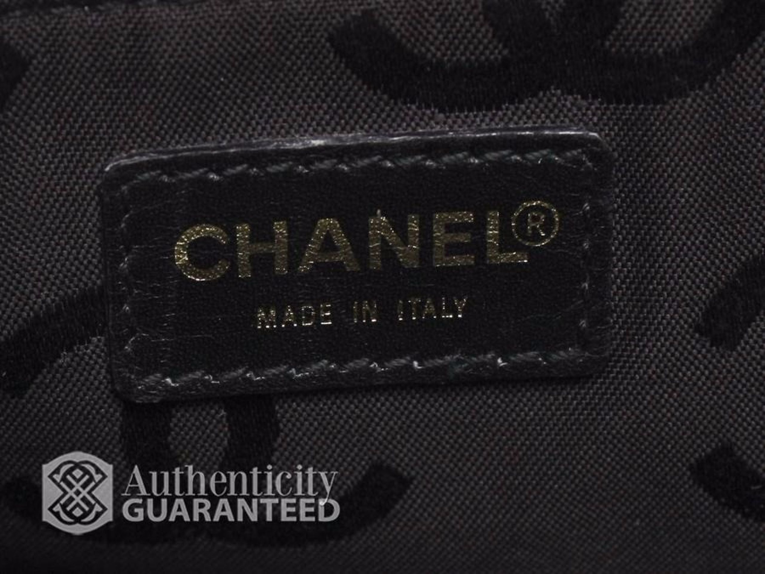 Chanel Black Leather Large Surpique Work Tote Bag