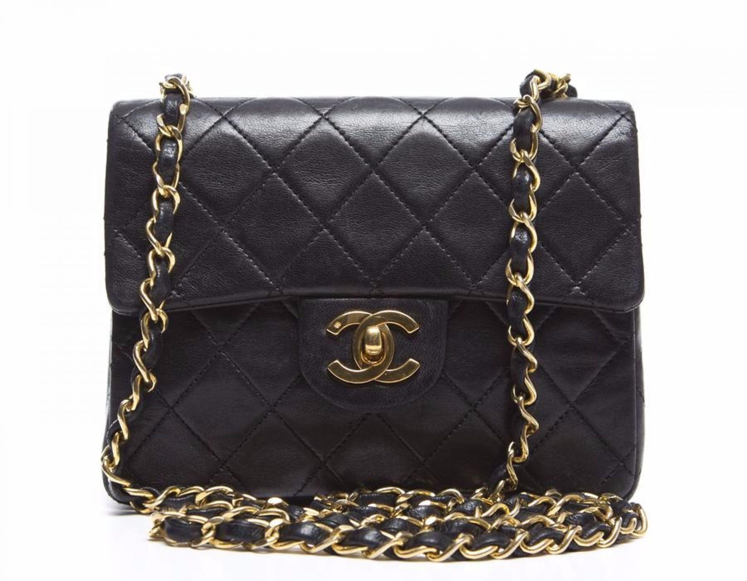 Chanel Black Lambskin Mini Flap Bag GHW