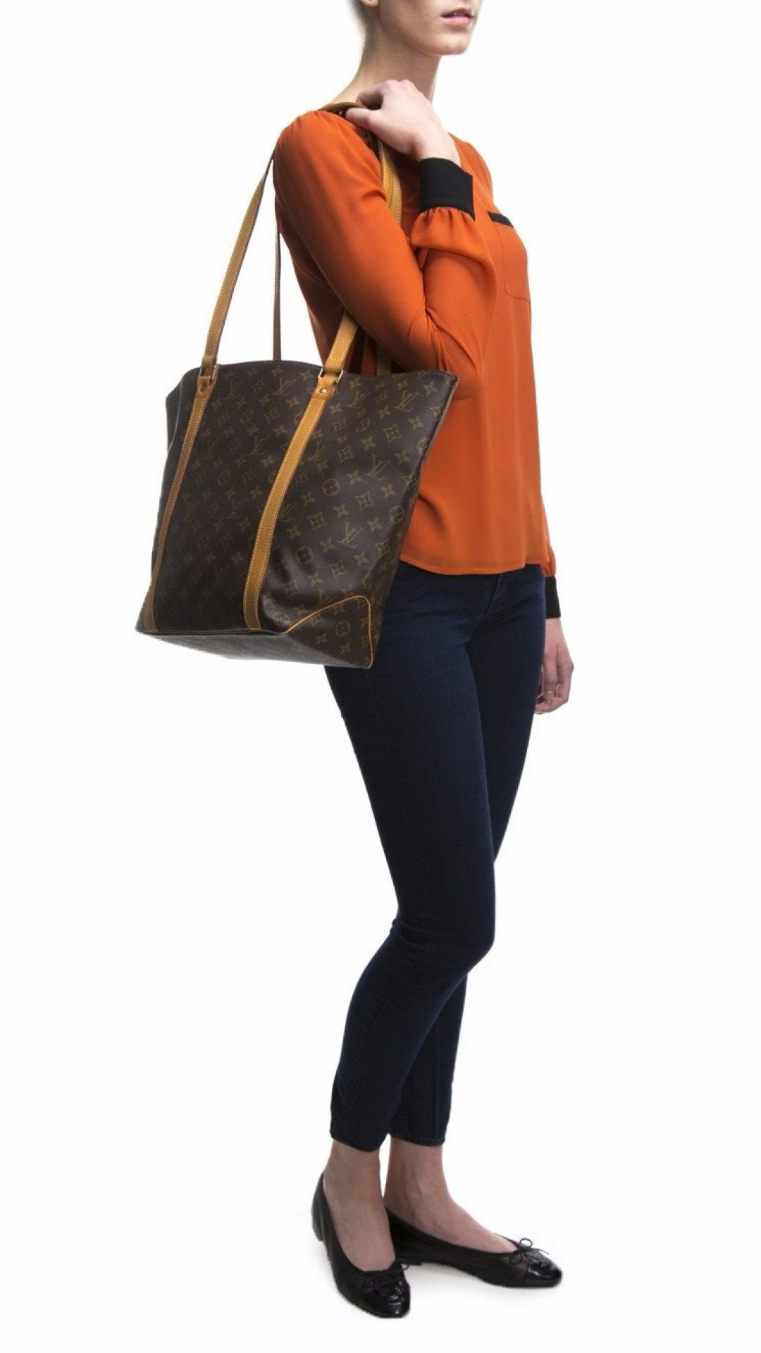 Louis Vuitton Monogram Canvas Sac Shopping PM Tote Bag