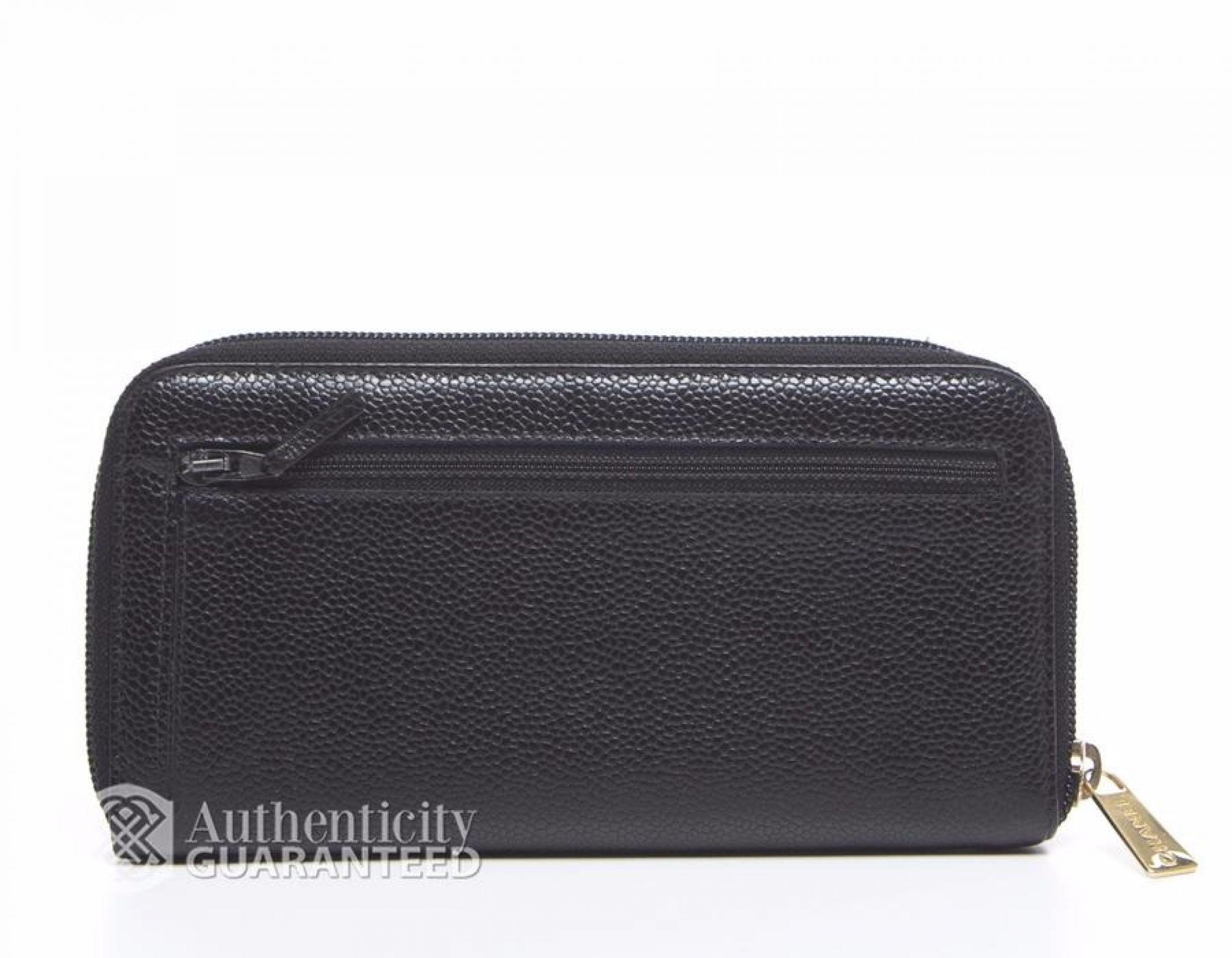 Chanel Black Caviar Classic Zippy Zip Around Wallet