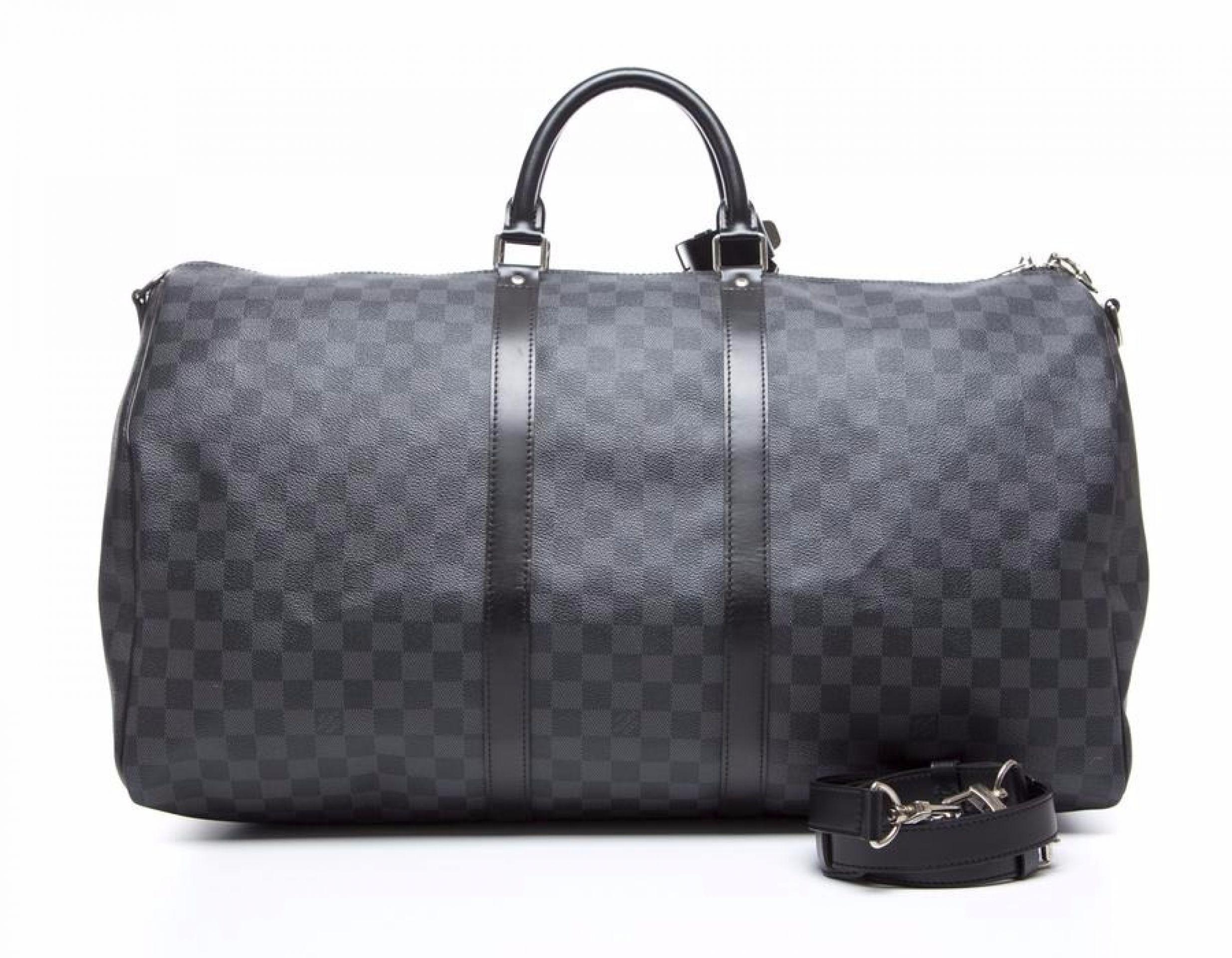 Louis Vuitton Damier Graphite Keepall Bandouliere 55 Bag