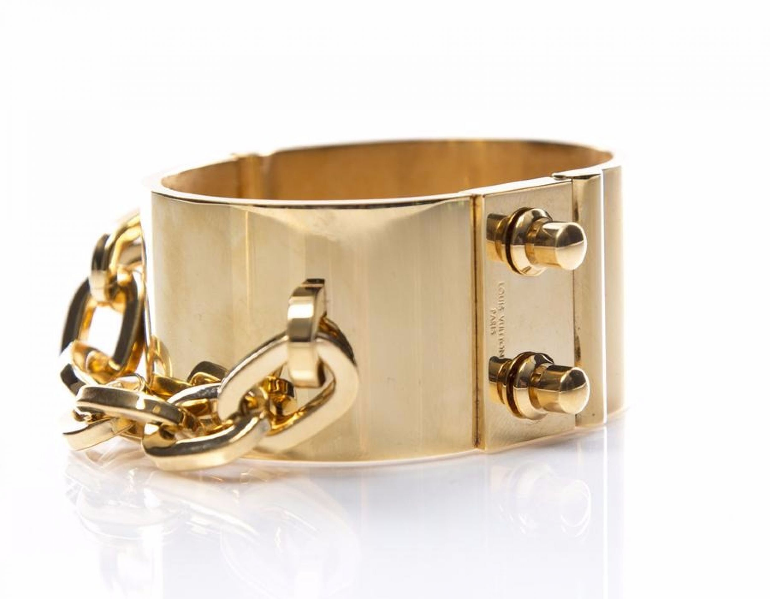 Louis Vuitton Gold Lock Me Manchette Bracelet