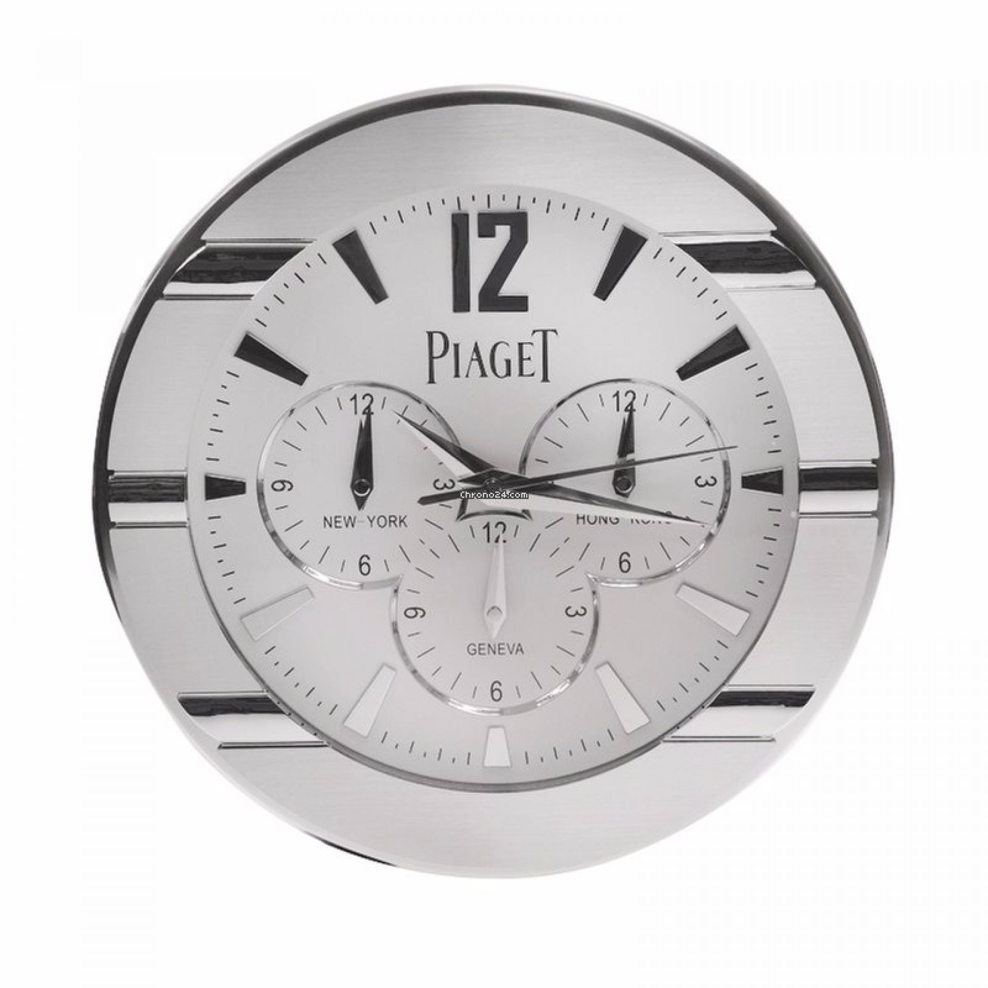 Piaget Stainless Steel Silver Piaget CLOCK