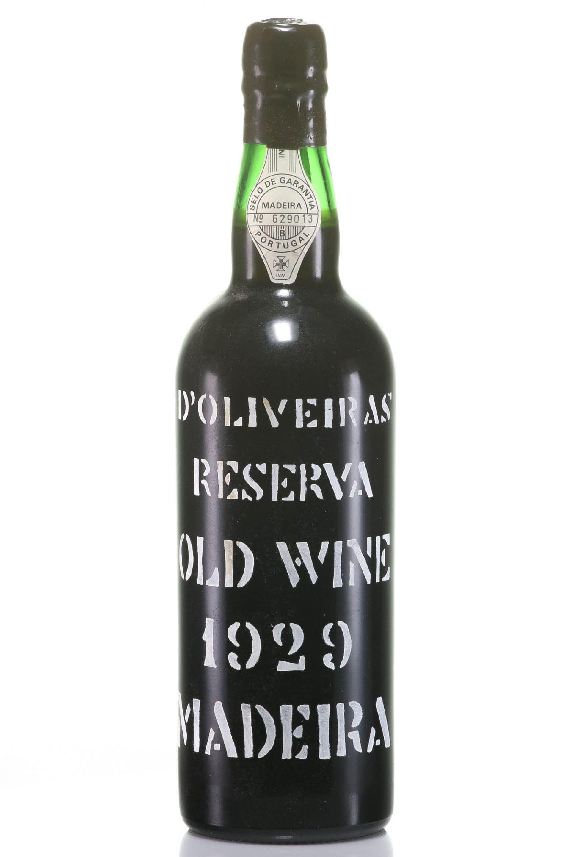 Madeira 1929 D'Oliveiras Reserva Old Wine