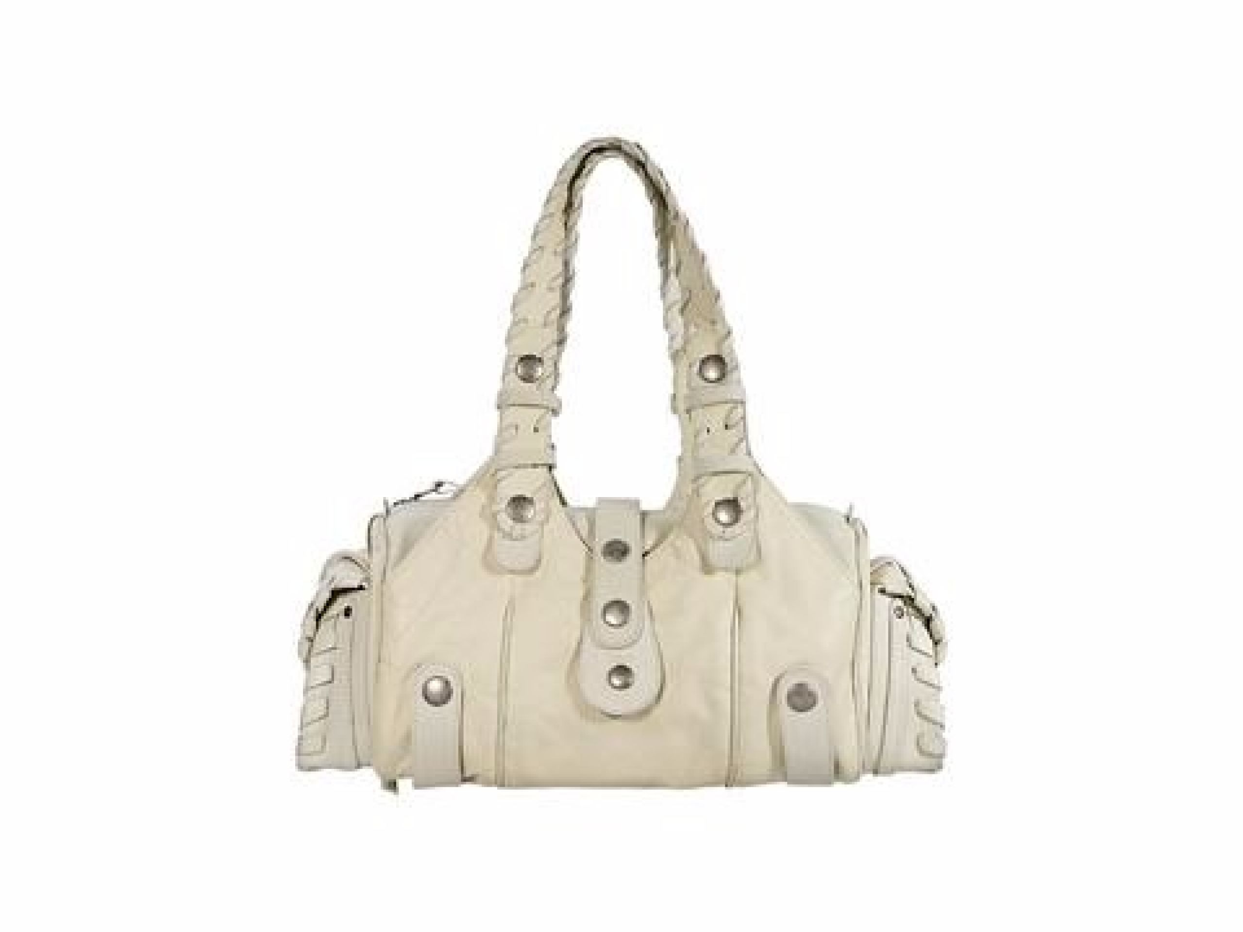 White Chloe Leather Shoulder Bag