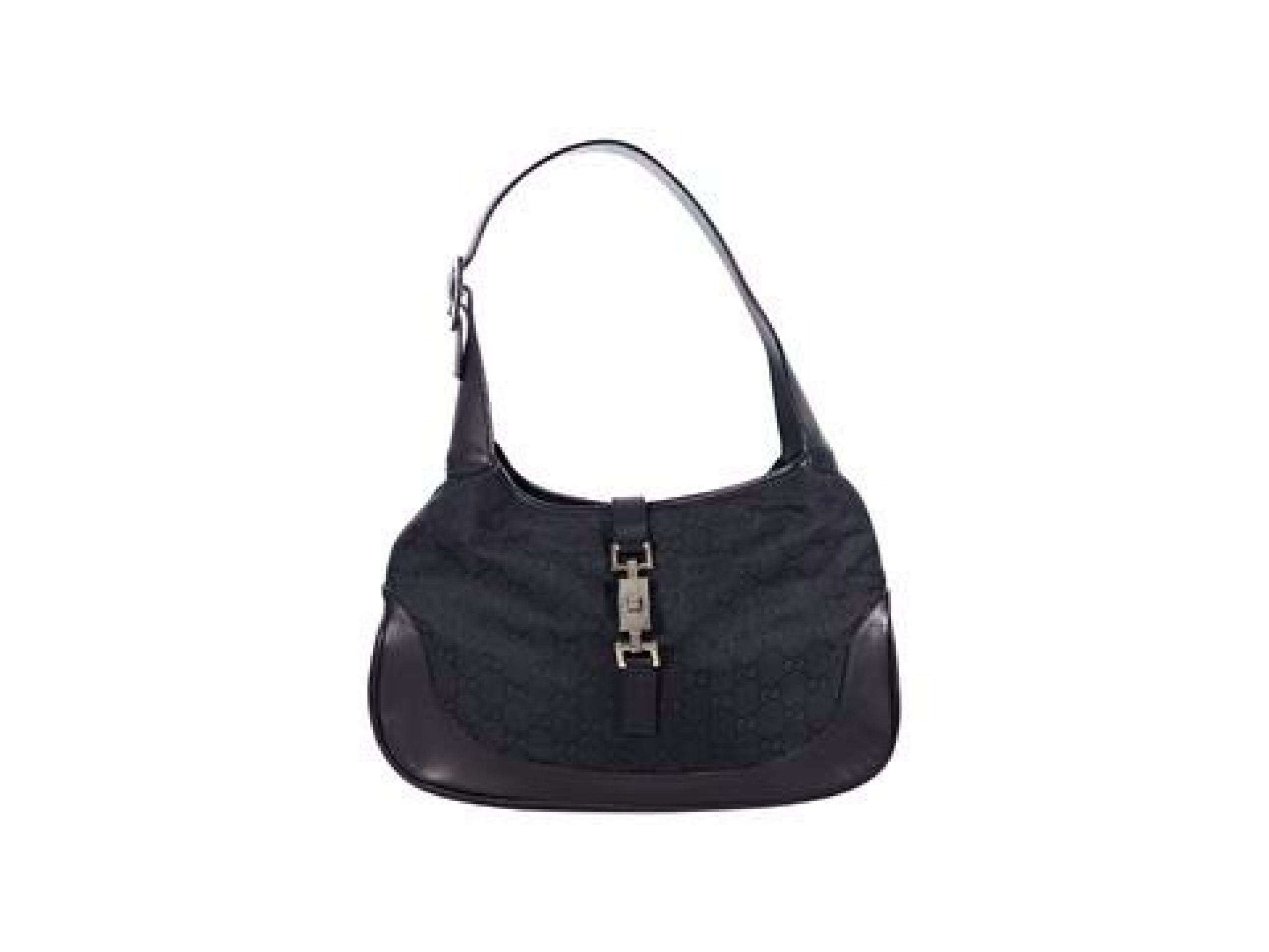 Black Gucci GG Canvas Jackie Shoulder Bag
