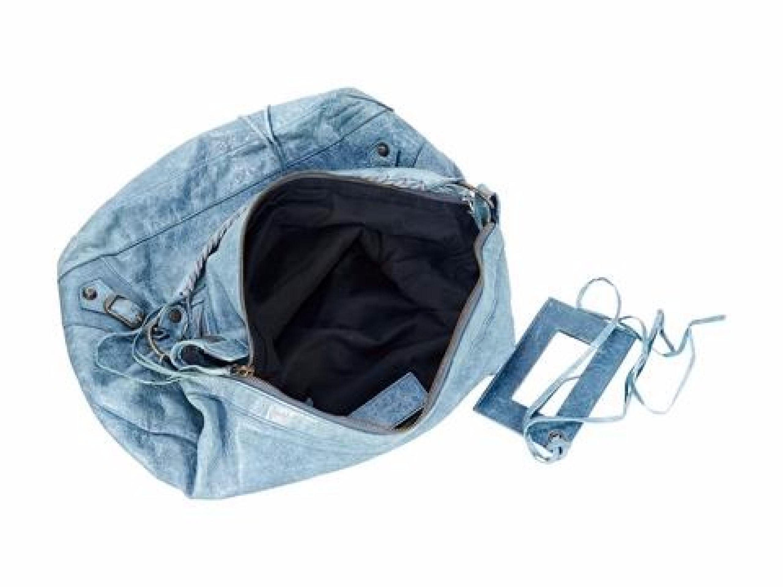Light Blue Balenciaga Motocross Classic Day Bag