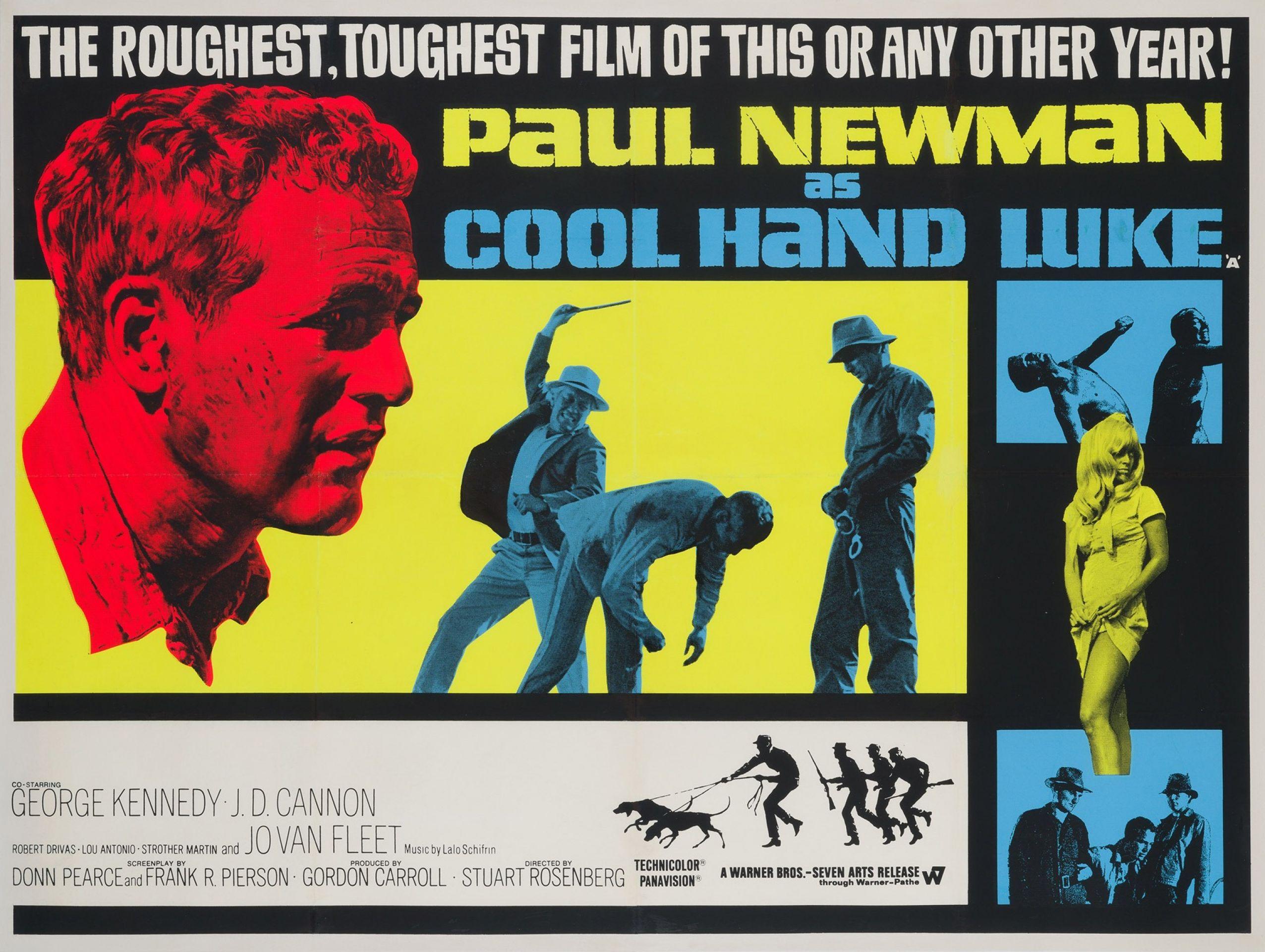 Original Cool Hand Luke 1967 British Film Movie Poster