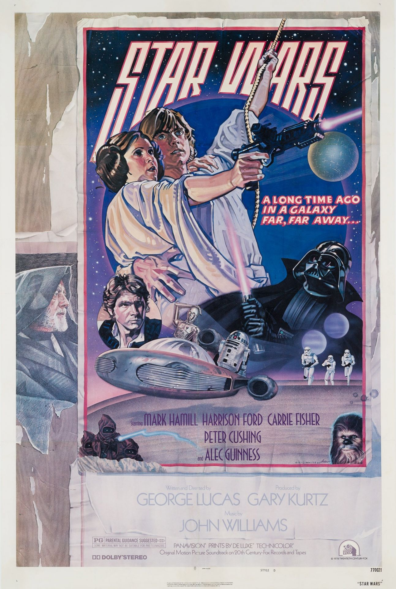 Original Star Wars 1977 US Film Movie Poster, Drew Struzen