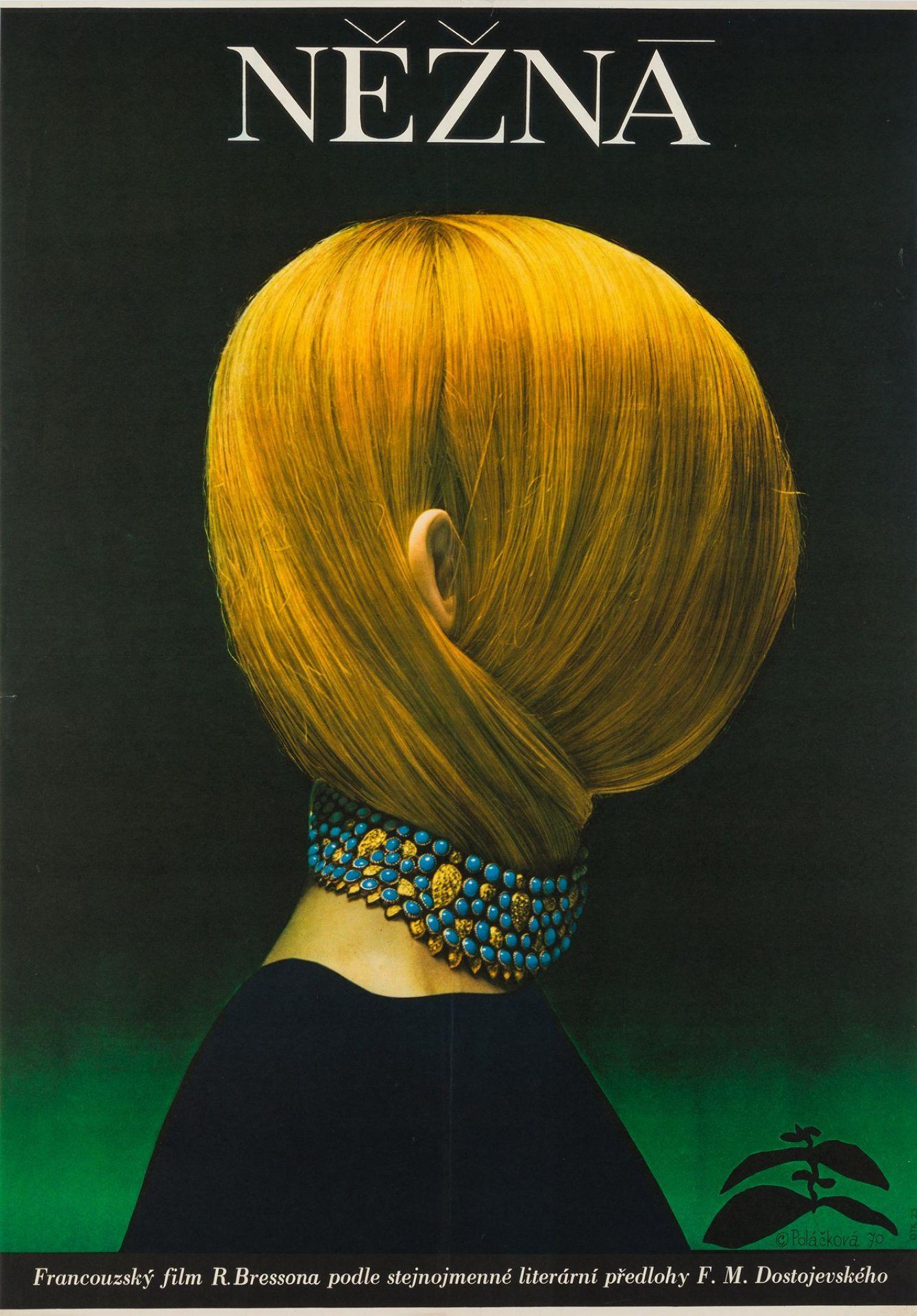 Original Une Femme Douce 1970 Czech Film Movie Poster, Olga Poláčková-Vyleťalová