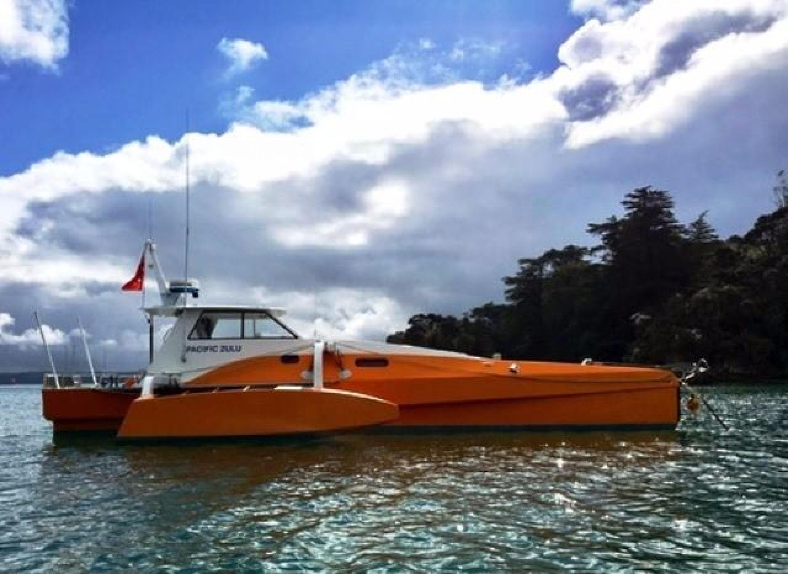CUSTOM LONG RANGE POWER TRIMARAN
