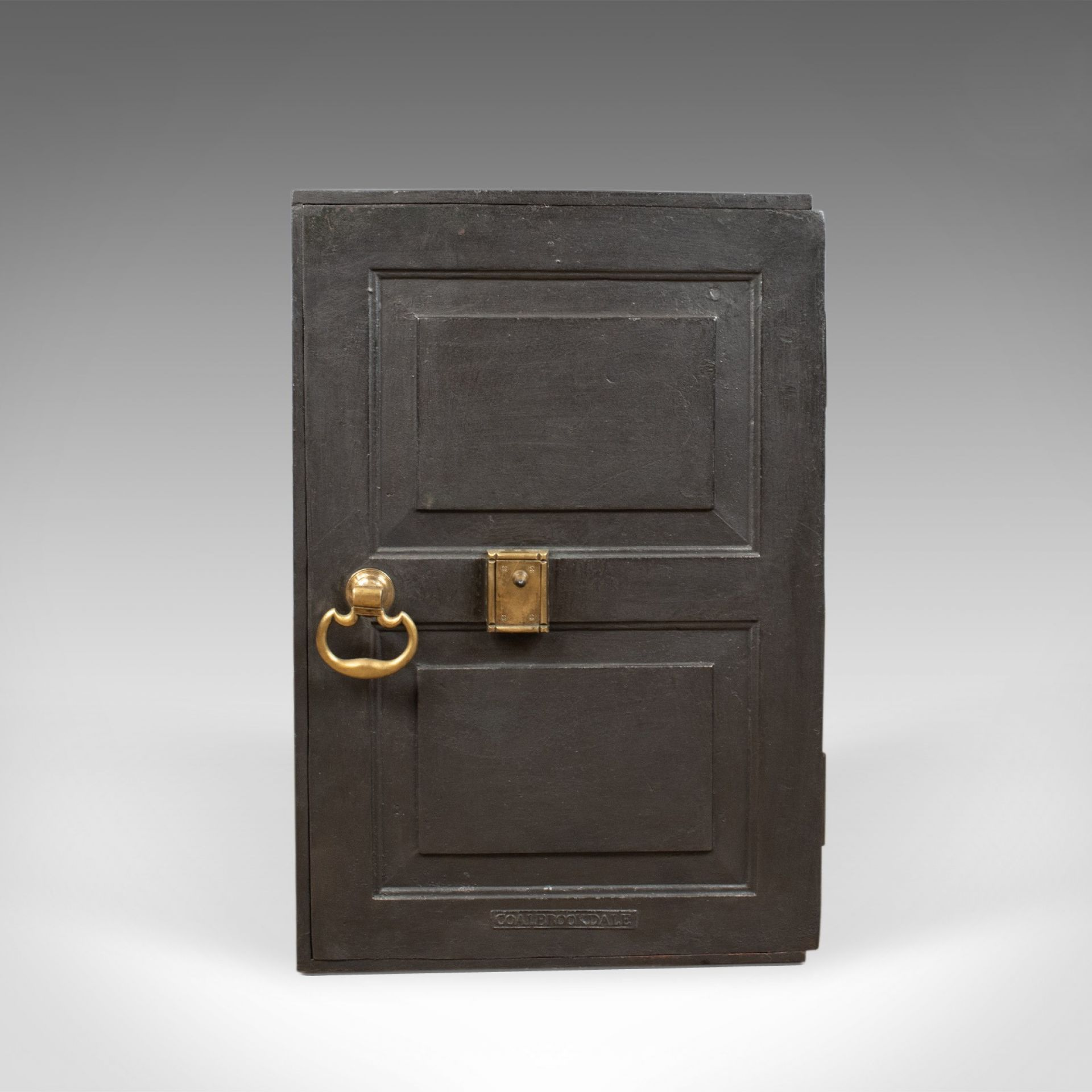 Antique Safe, English, Victorian, Cast Iron, Coalbrookdale, Circa 1880