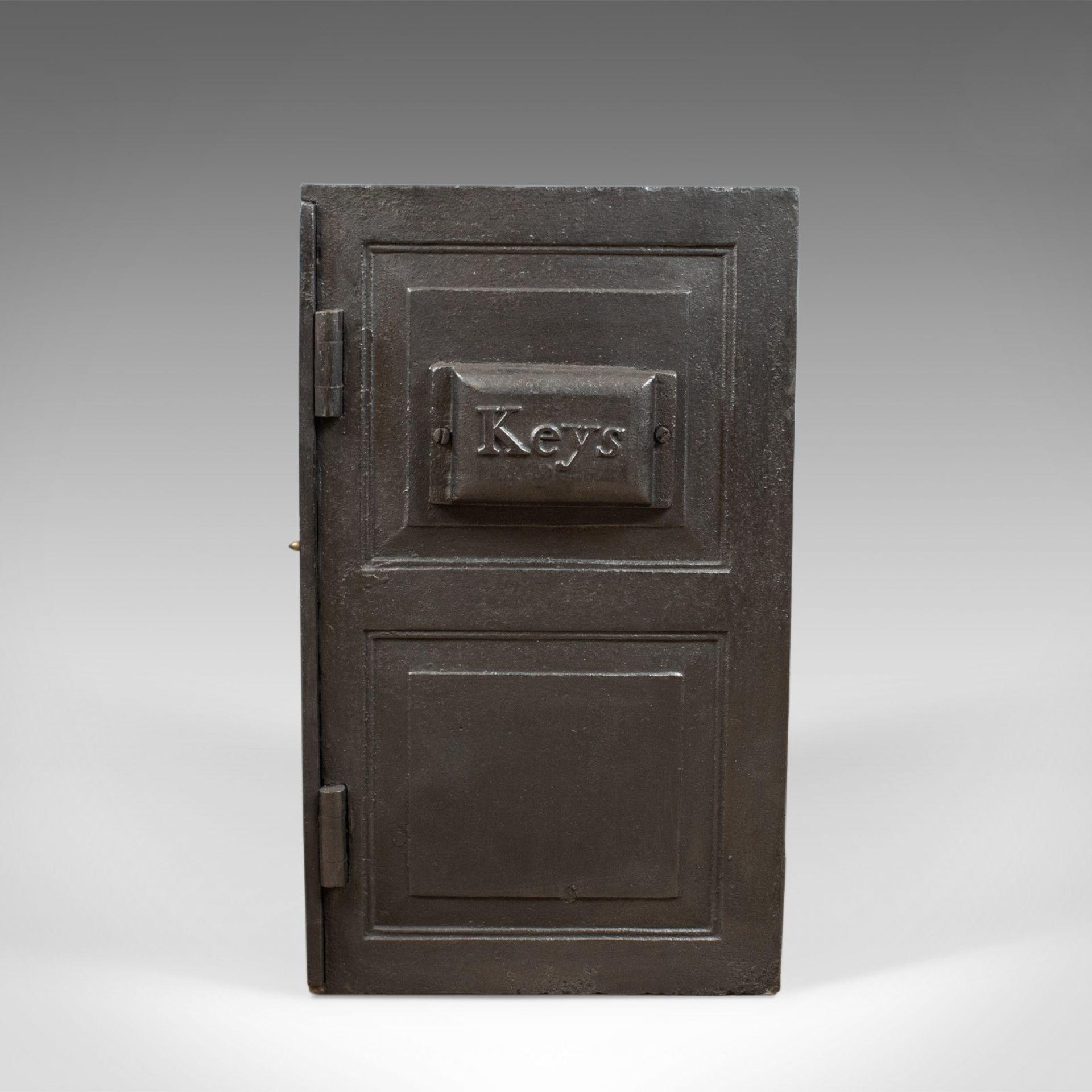 Antique Safe, English, Victorian, Cast Iron, Coalbrookdale, Circa 1880