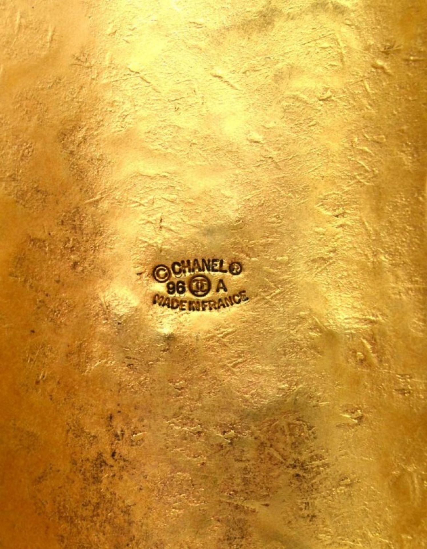 Chanel '96 Hammered Cuff W/ Gripoix
