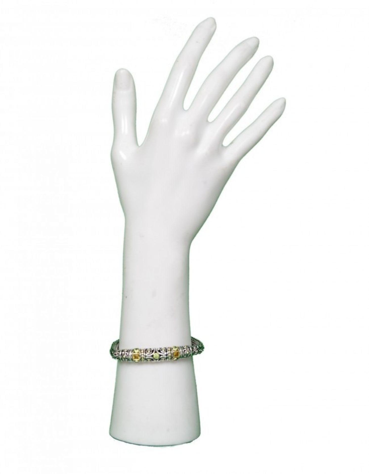 "John Hardy Sterling/18K Gold Batu Bracelet 7"""