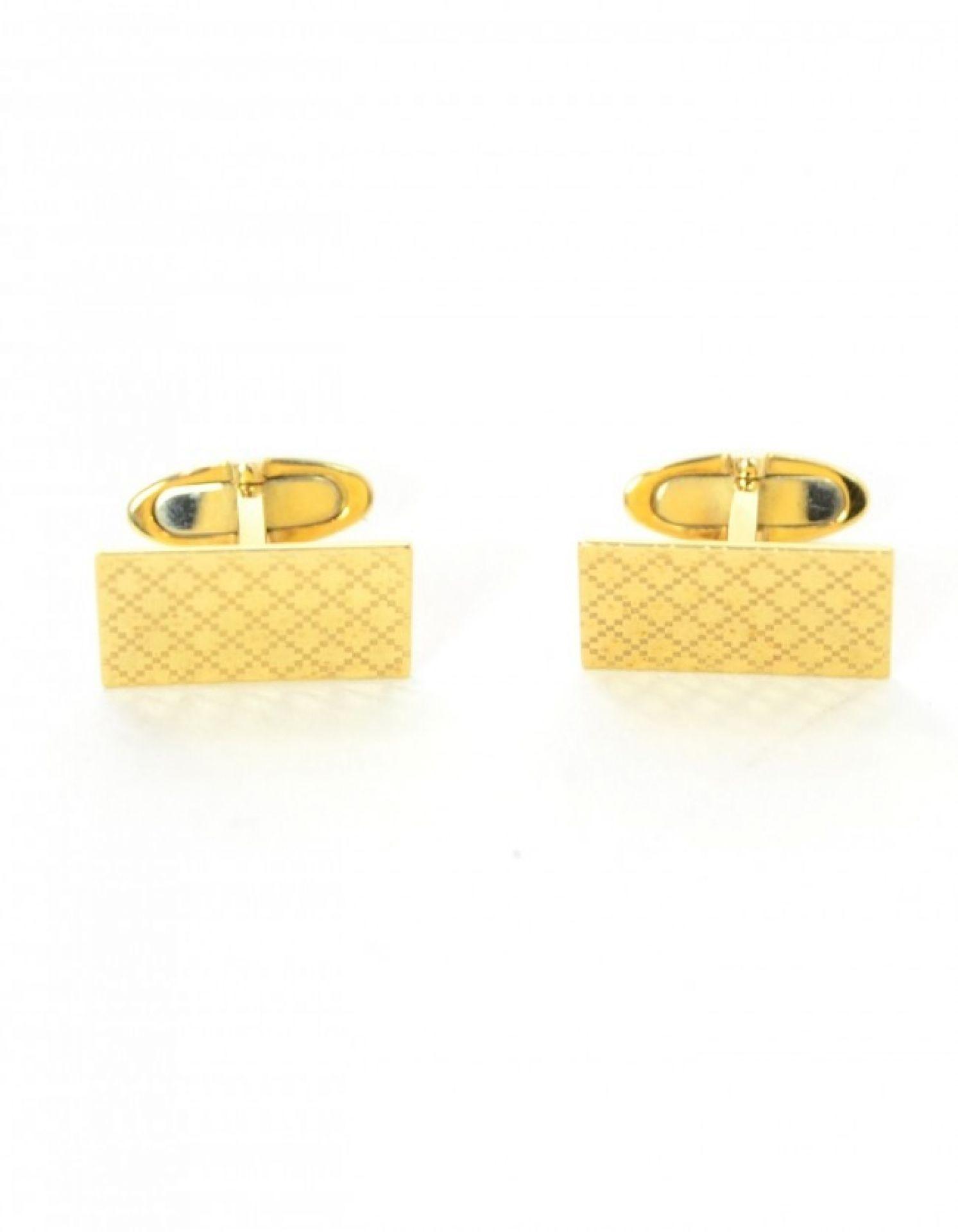 Gucci Men's 18K Yellow Gold Diamantissima Cufflinks