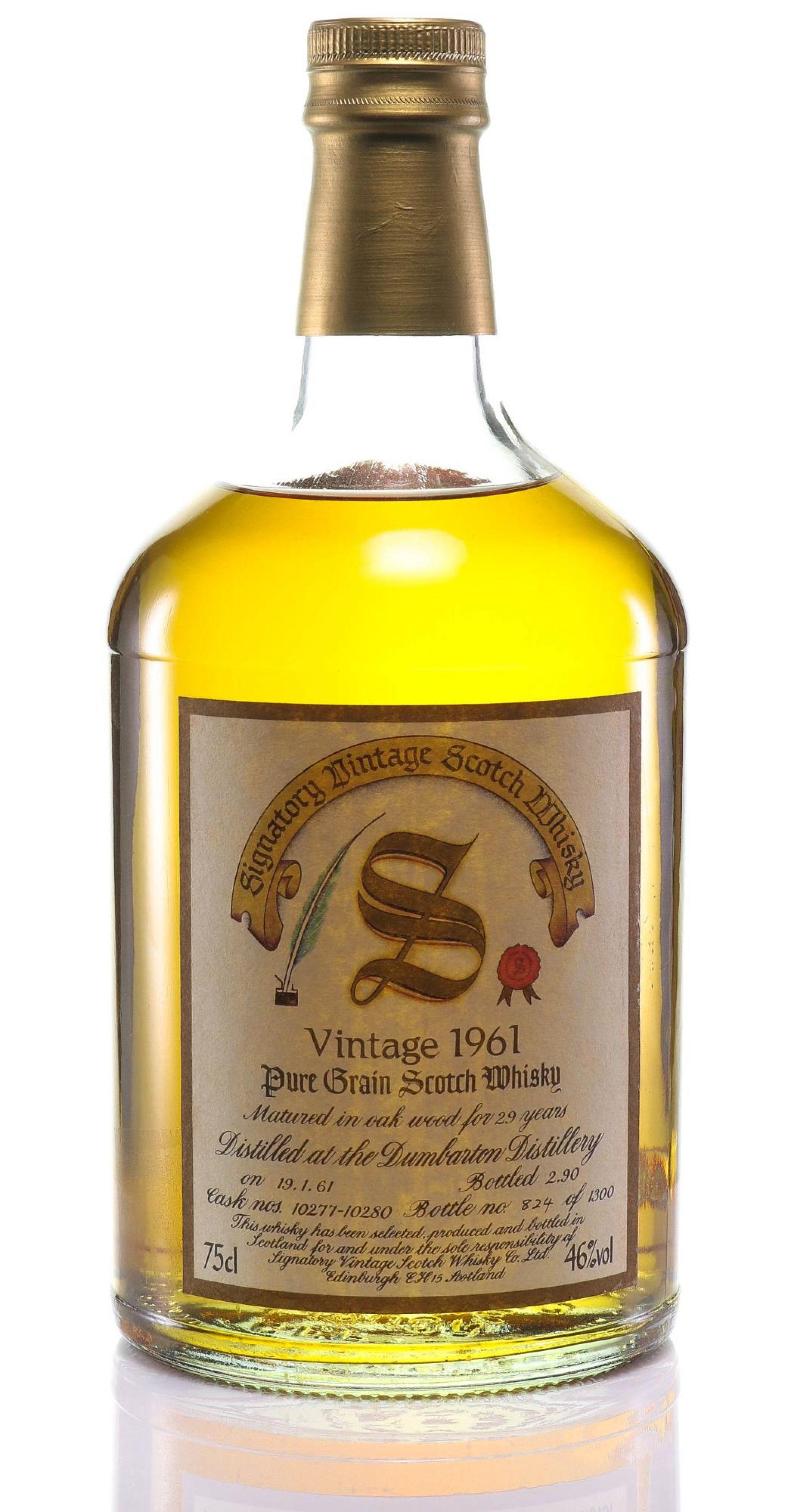 Whisky 1961 Dumbarton Signatory