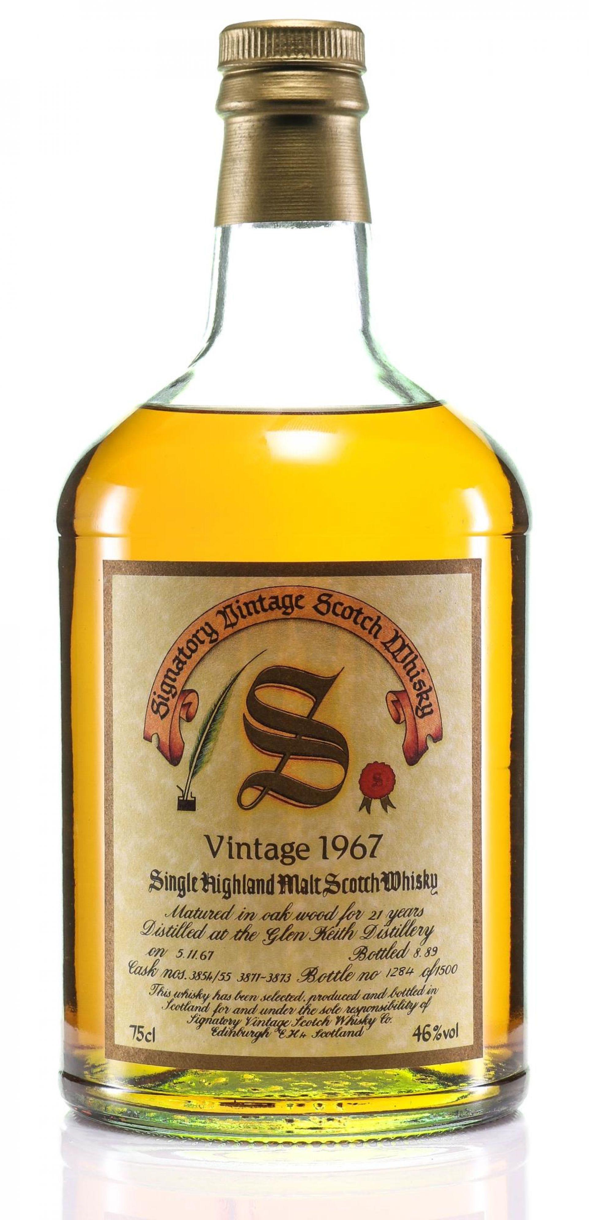 Whisky 1967 Glen Keith Signatory