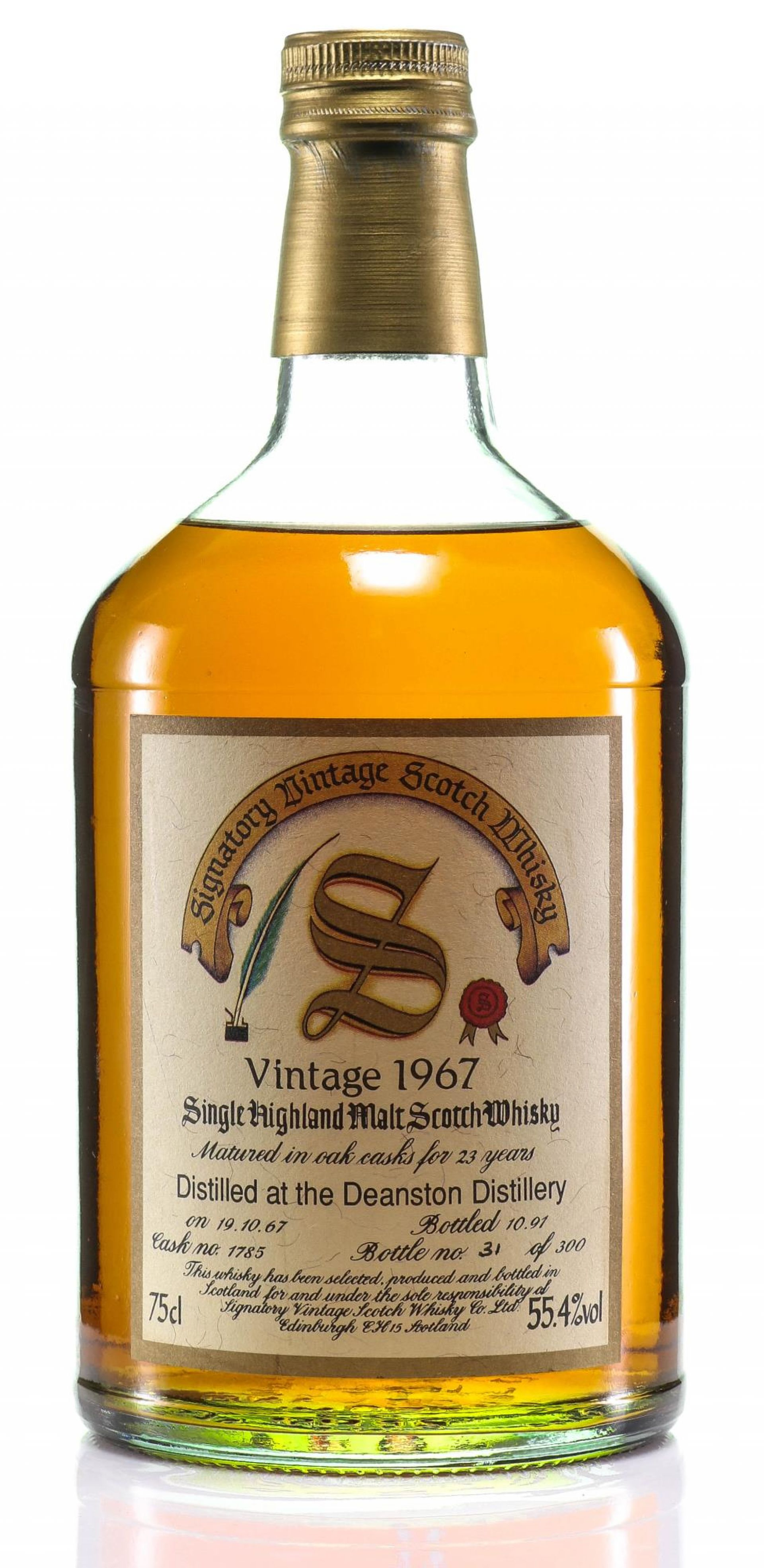 Whisky 1967 Deanston Signatory