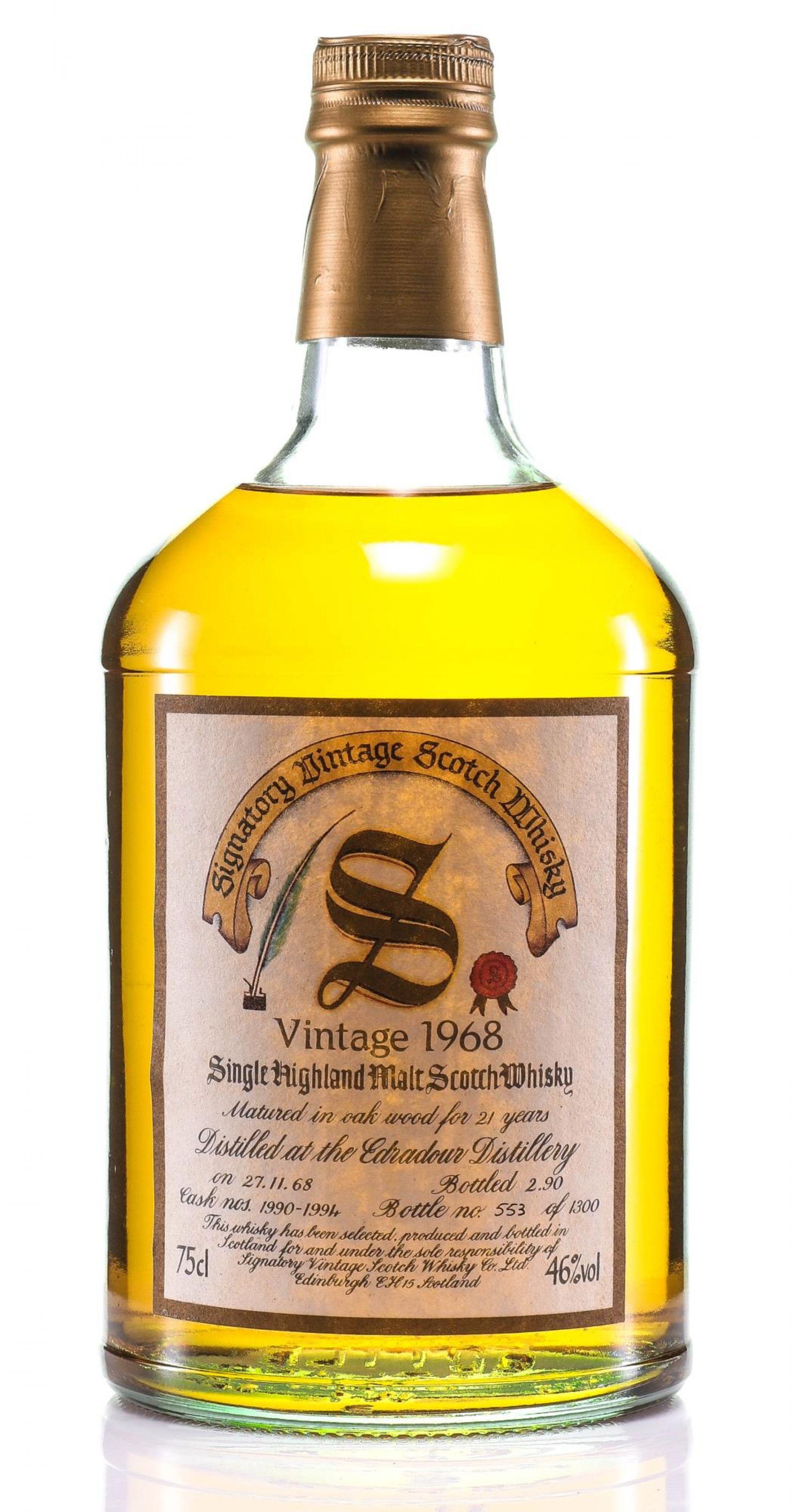 Whisky 1968 Edradour Signatory